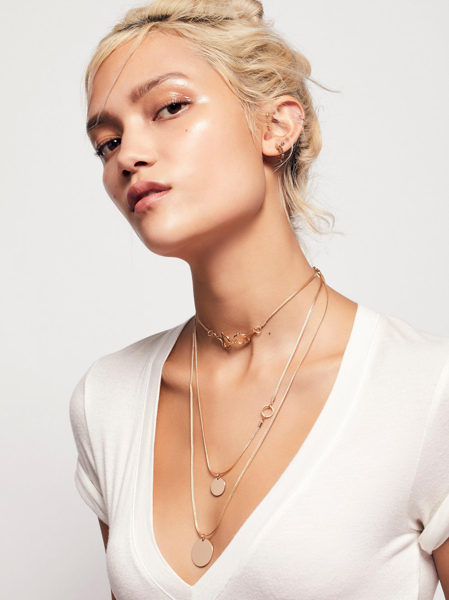 Lyst Free People Emma Taylor Necklace In Metallic
