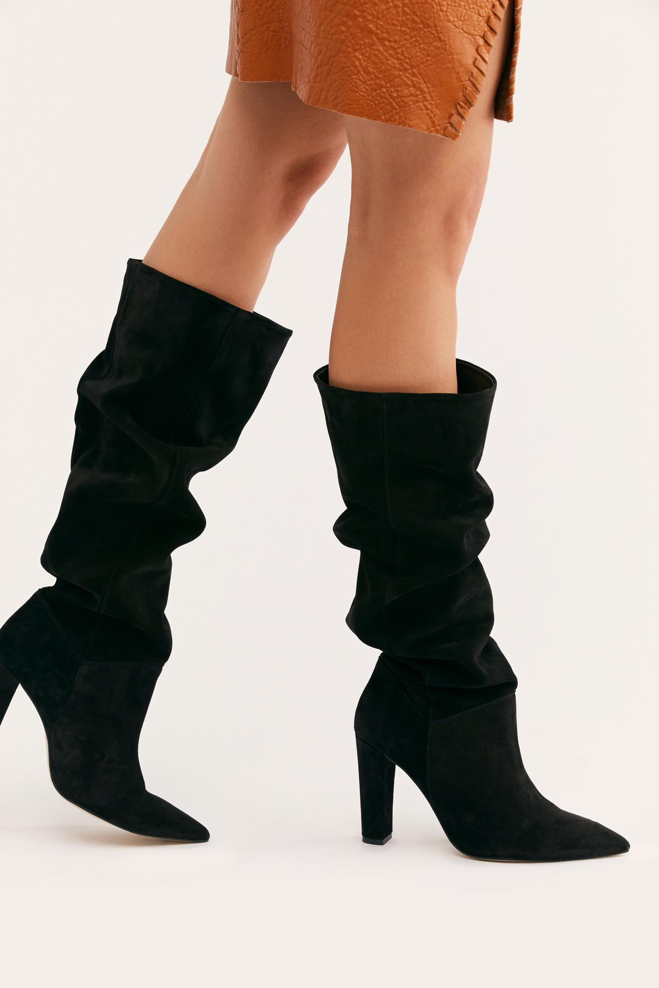 bfbe48d5e14a19 Lyst - Free People Louisa Slouch Boot in Black