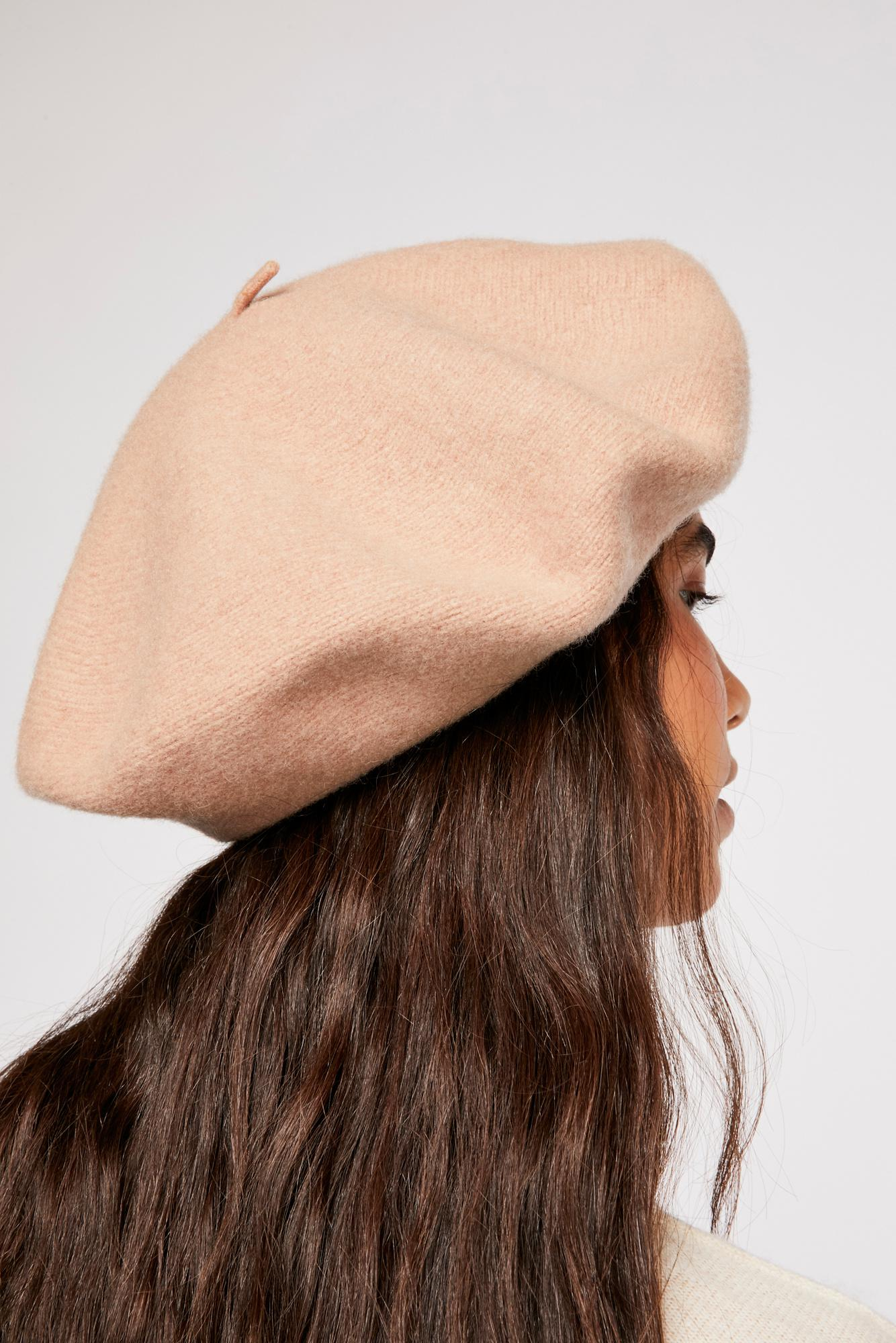 Free People Margot Slouchy Beret in Brown - Lyst e6dd87b7567