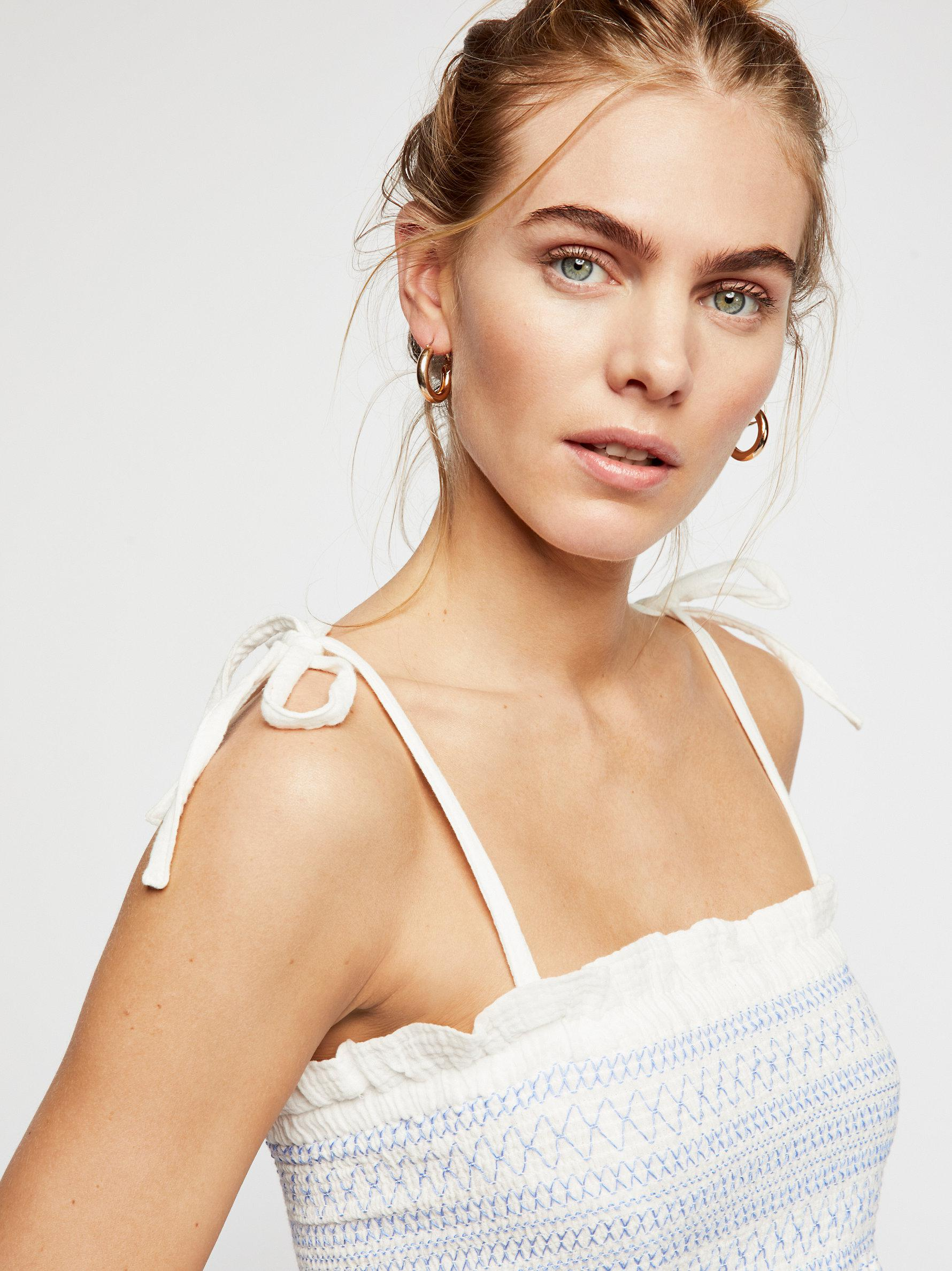 f87b055f35 Lyst - Free People Smock It To Me Tube Top in White