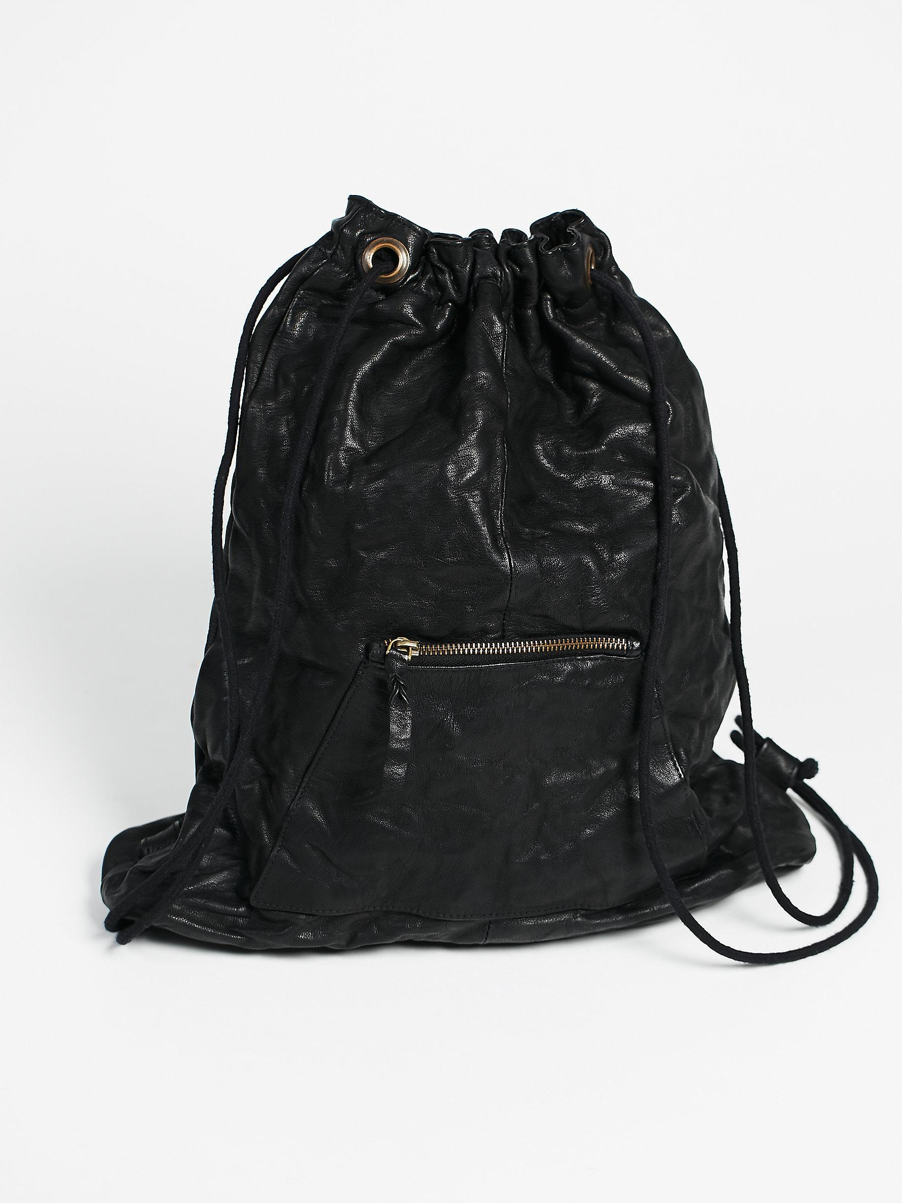Lyst Free People Granby Leather Backpack In Black