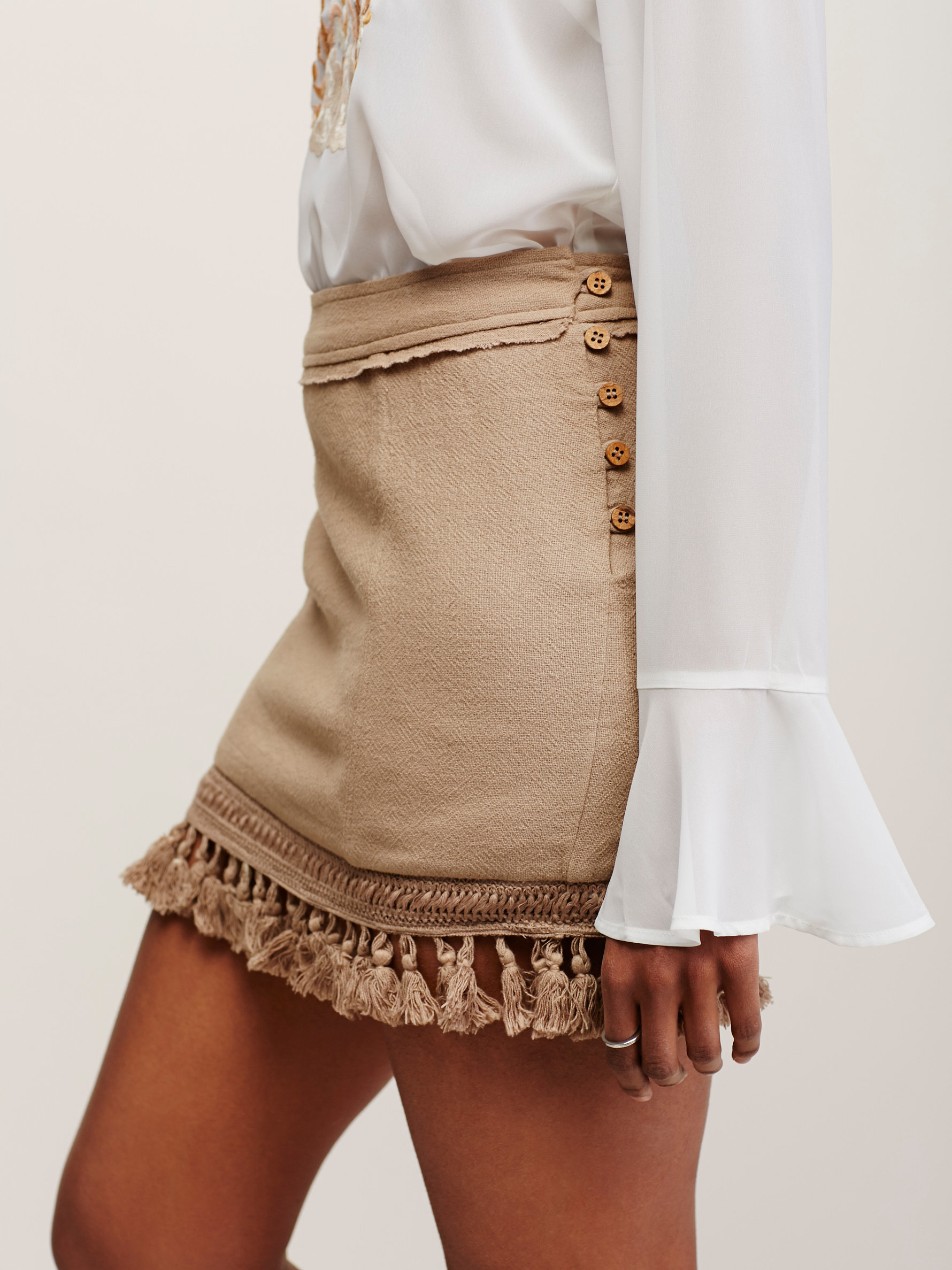 Lyst Free People Hot Trot Mini Skirt In Natural