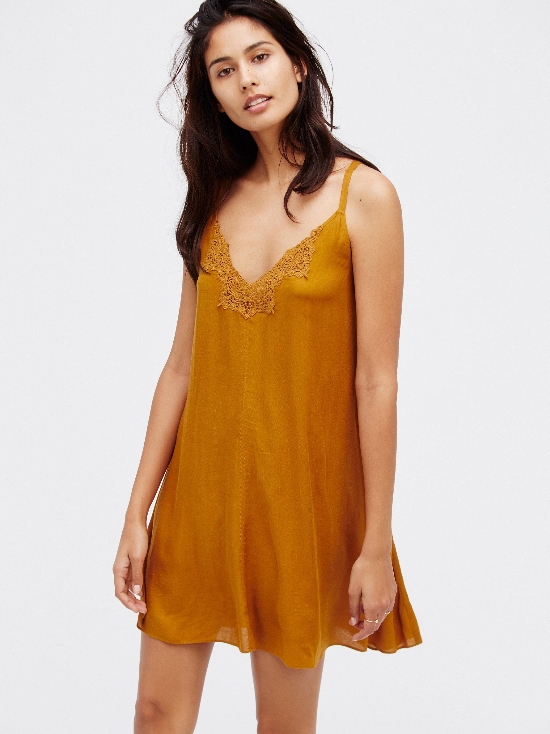 7a8019b595a4bf Lyst - Free People Kendall Trapeze Slip