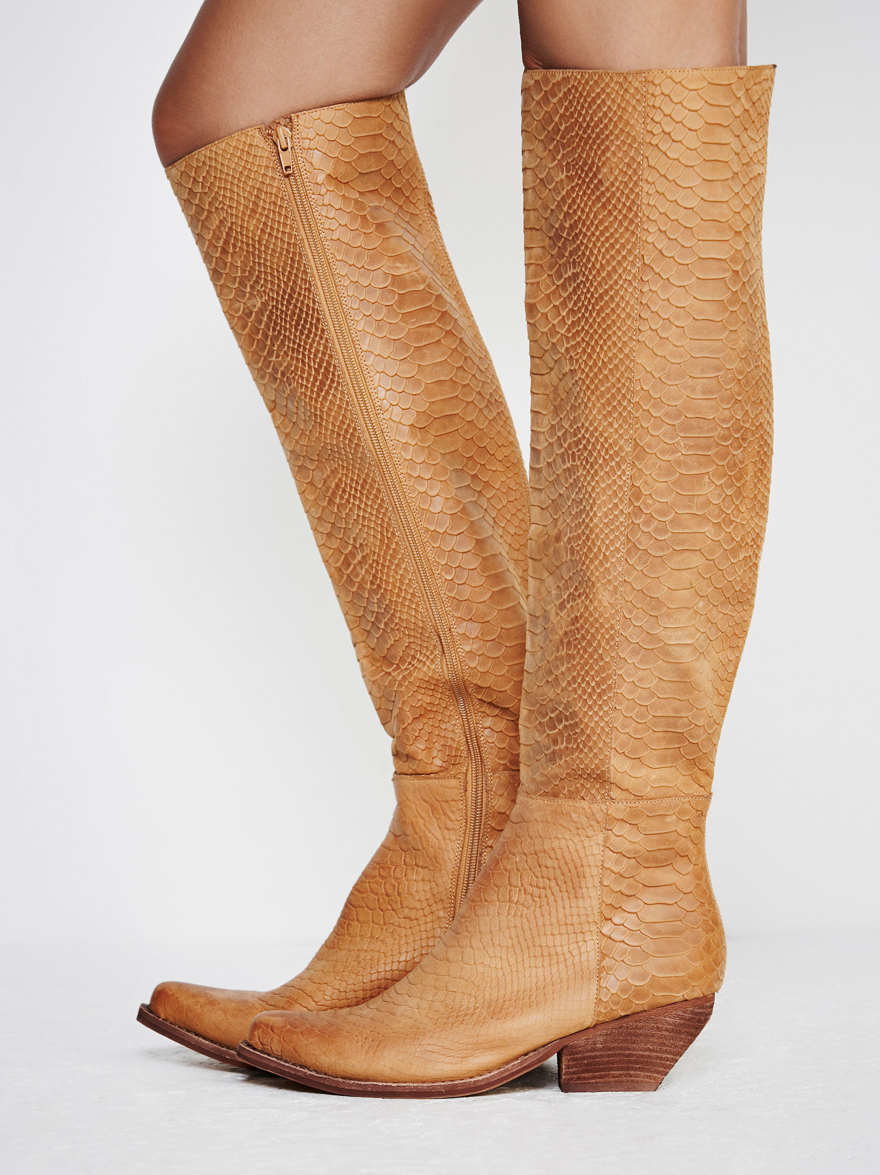 014bd373d5c Lyst - Free People Limitless Tall Boot in Brown