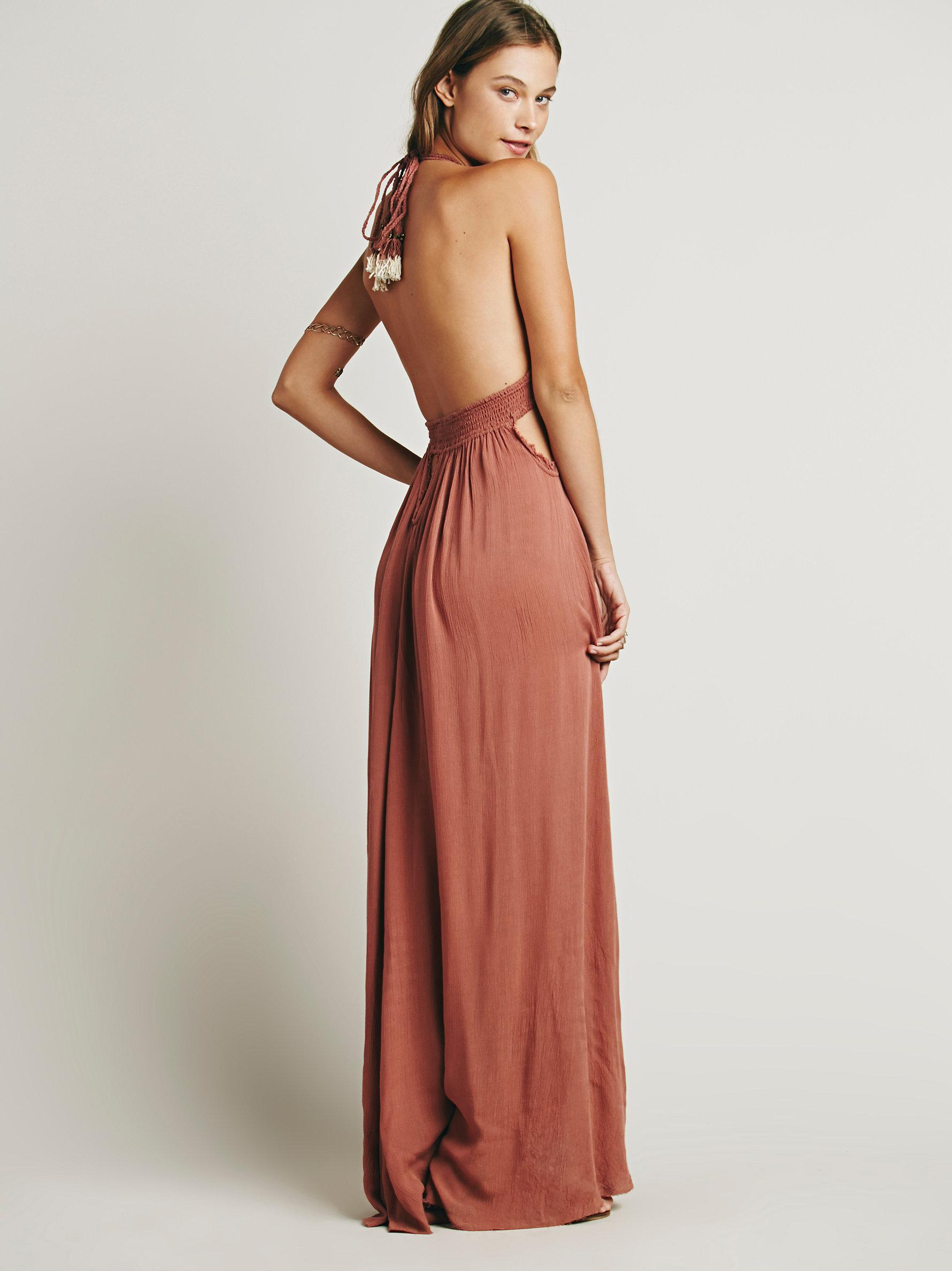 ec2ebeb4bc Free People Look Into The Sun Maxi in Pink - Lyst
