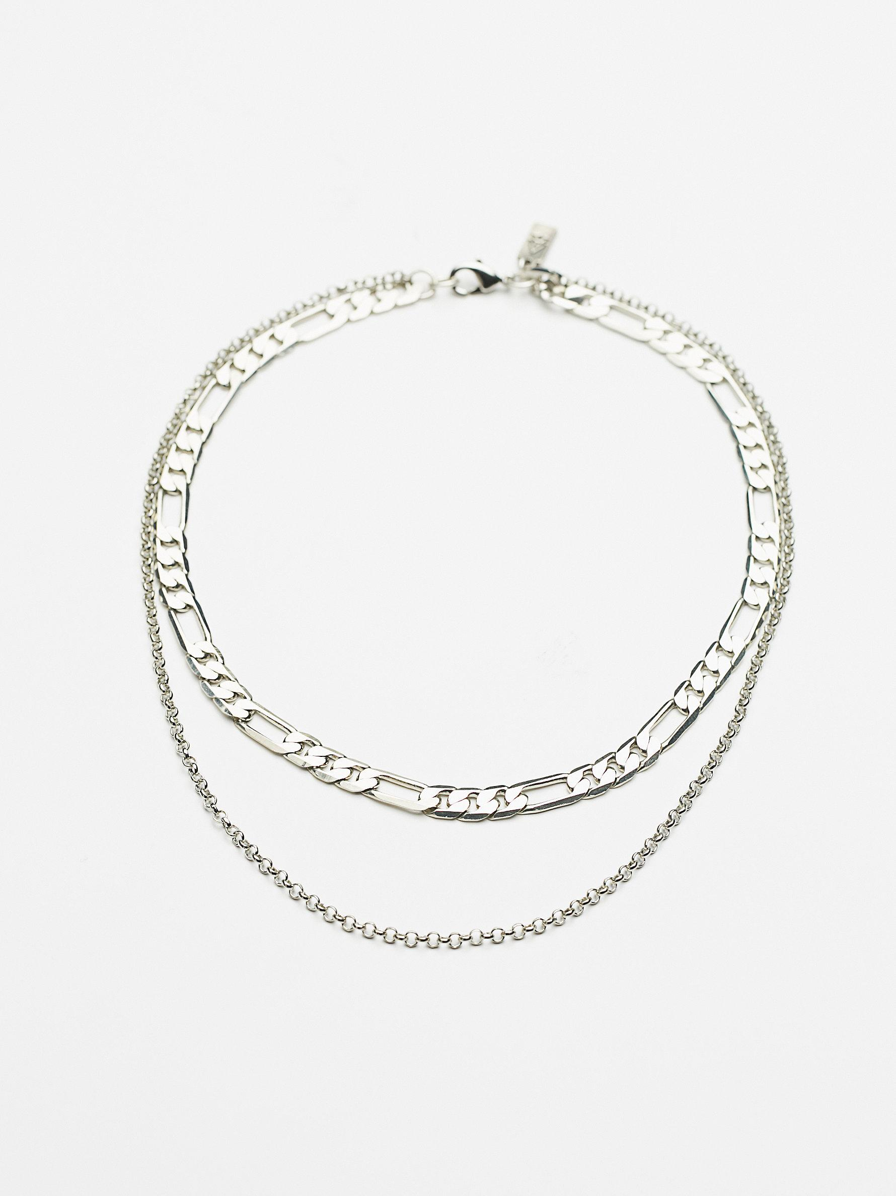 Lyst Free People Monroe Chain Necklace In Metallic