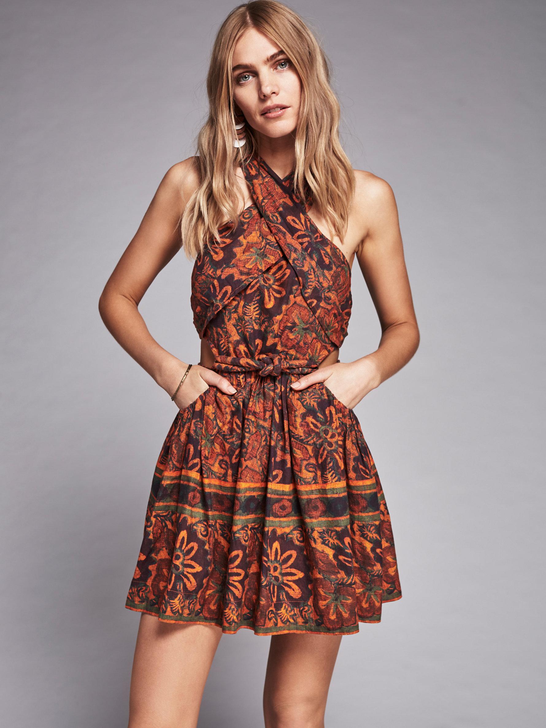 Free People New Romantics Lazy Luau Dress In Brown