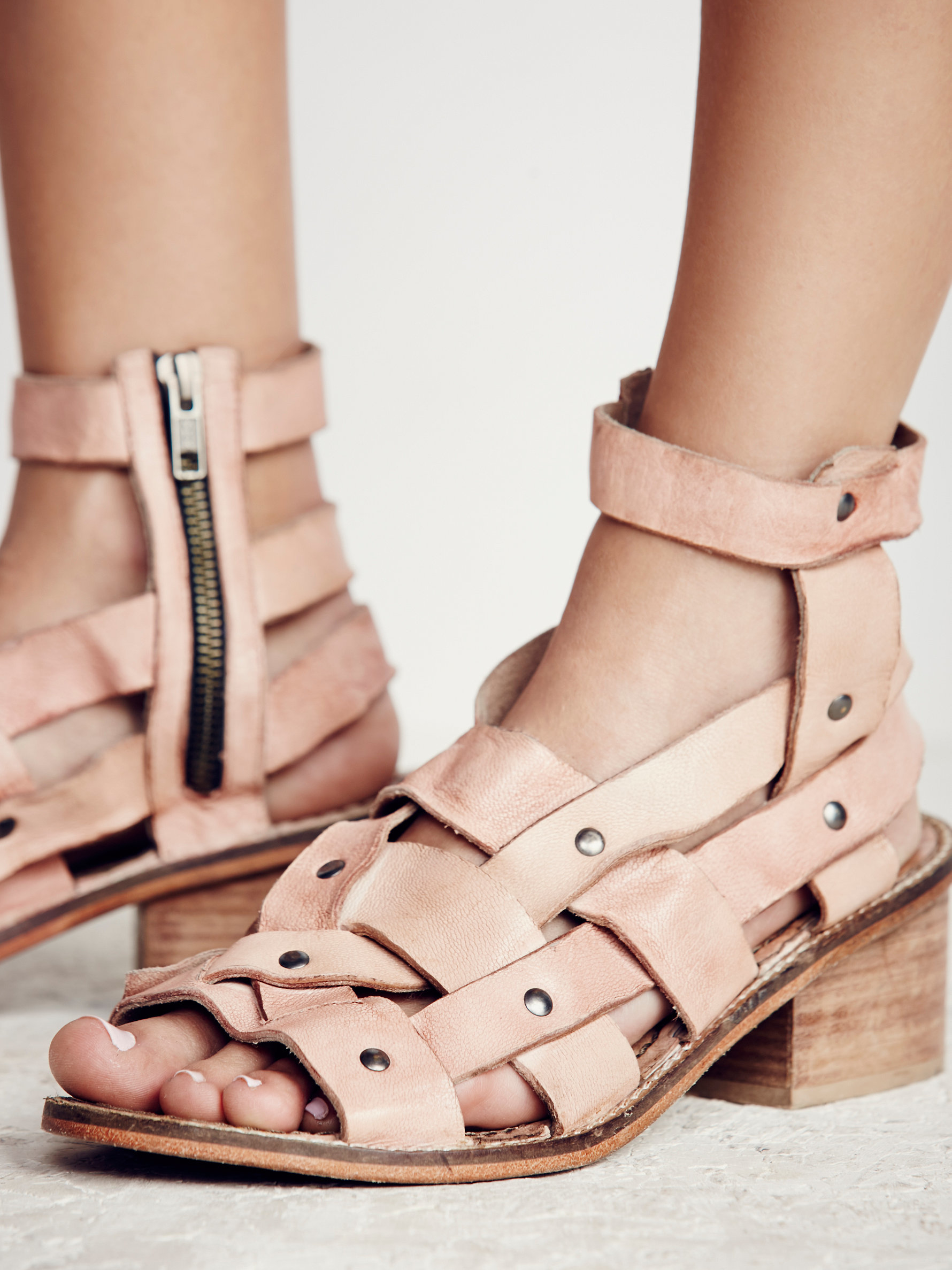 f29a01f1acd Lyst - Free People River Stone Heel in Pink
