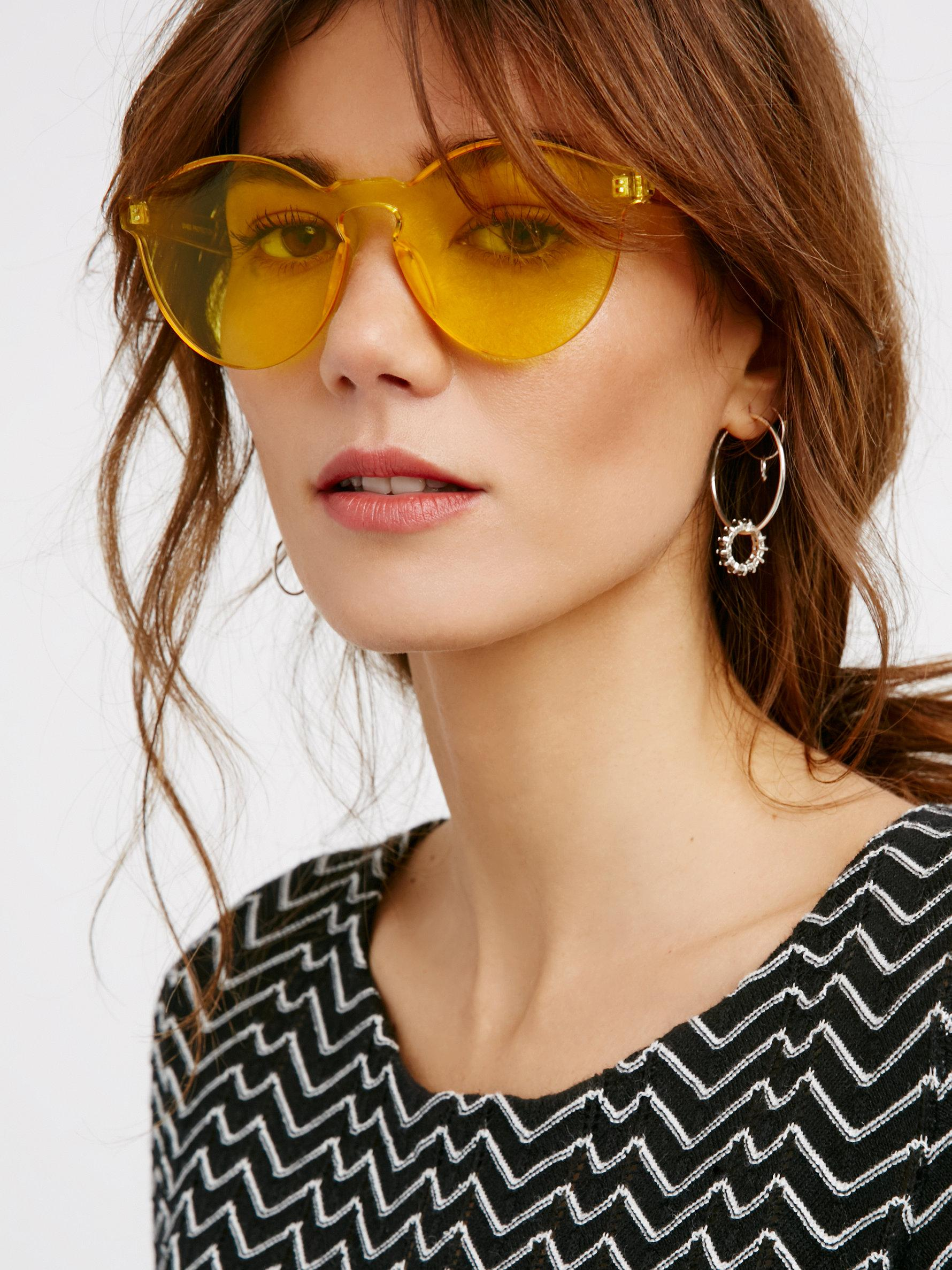 Lyst - Free People Spectrum Sunnies in Yellow