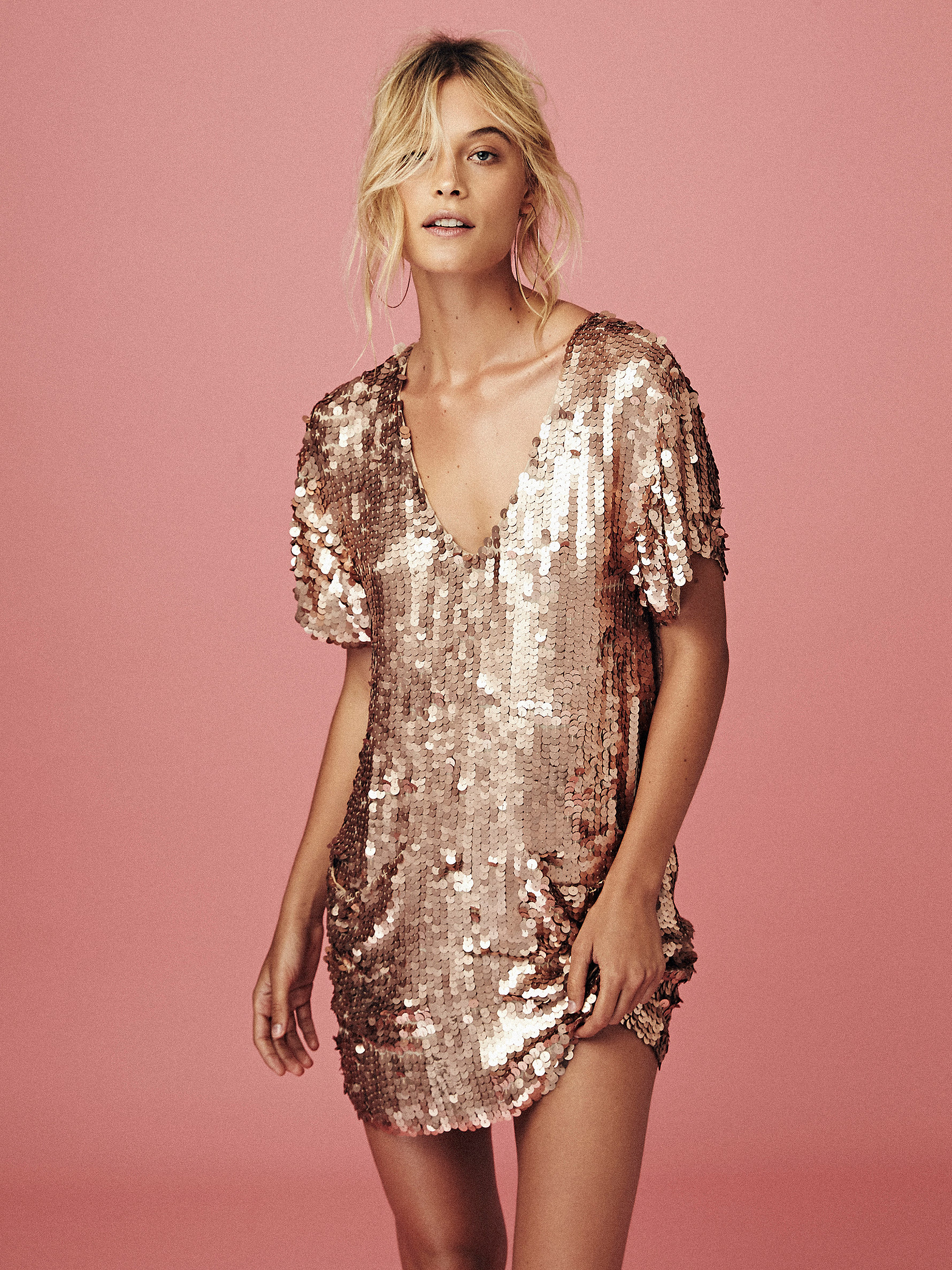 Free People Surry Sequin Dress in Pink - Lyst
