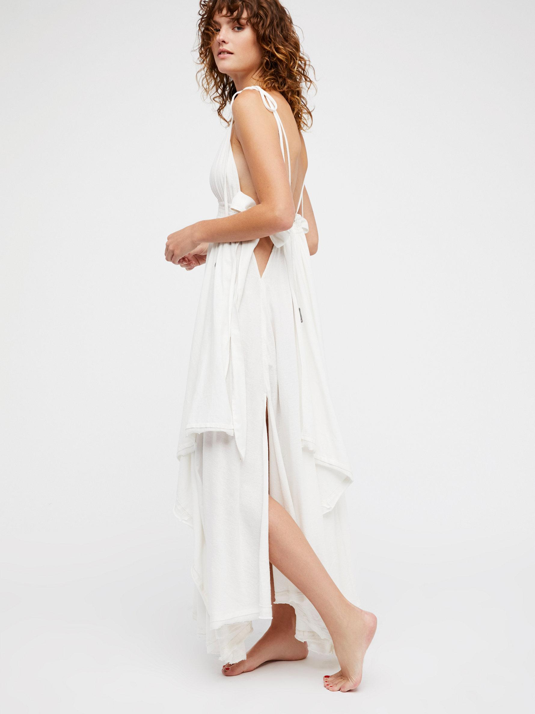 bf437d482 Lyst - Free People Tropical Heat Maxi Dress in White