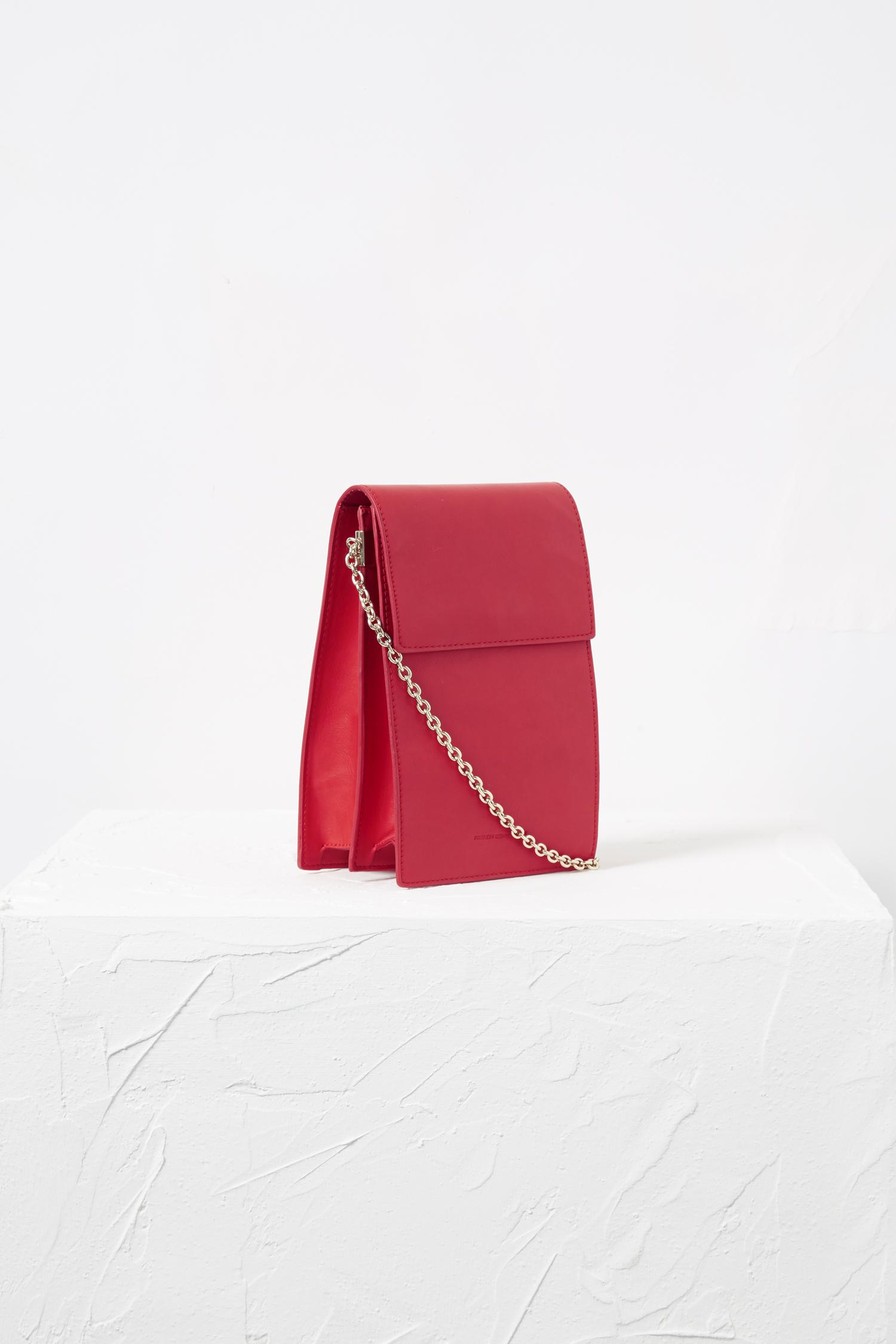 Lyst French Connection Betty Rectangle Cross Body Bag In Red Shanghai Gold Mini Crossbody Black View Fullscreen