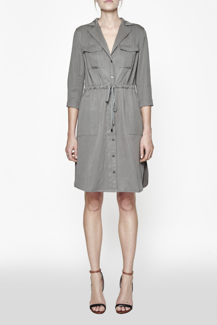 French connection kruger tencel tie waist shirt dress in for French connection shirt dress