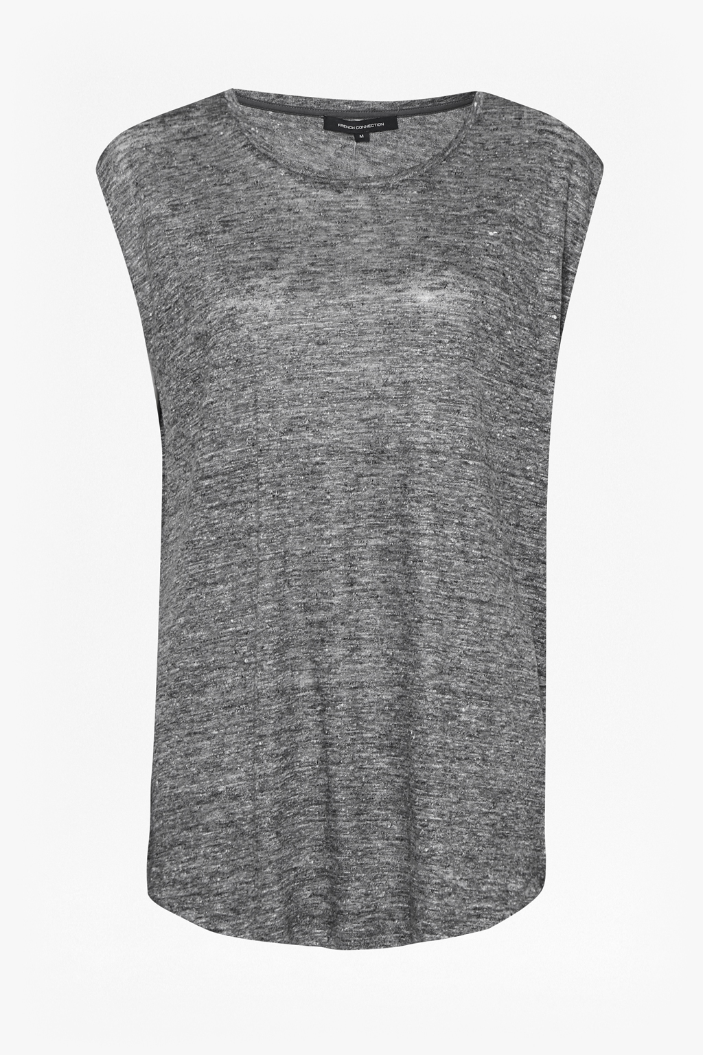 French Connection Laurel Linen Marl T Shirt In Gray Lyst