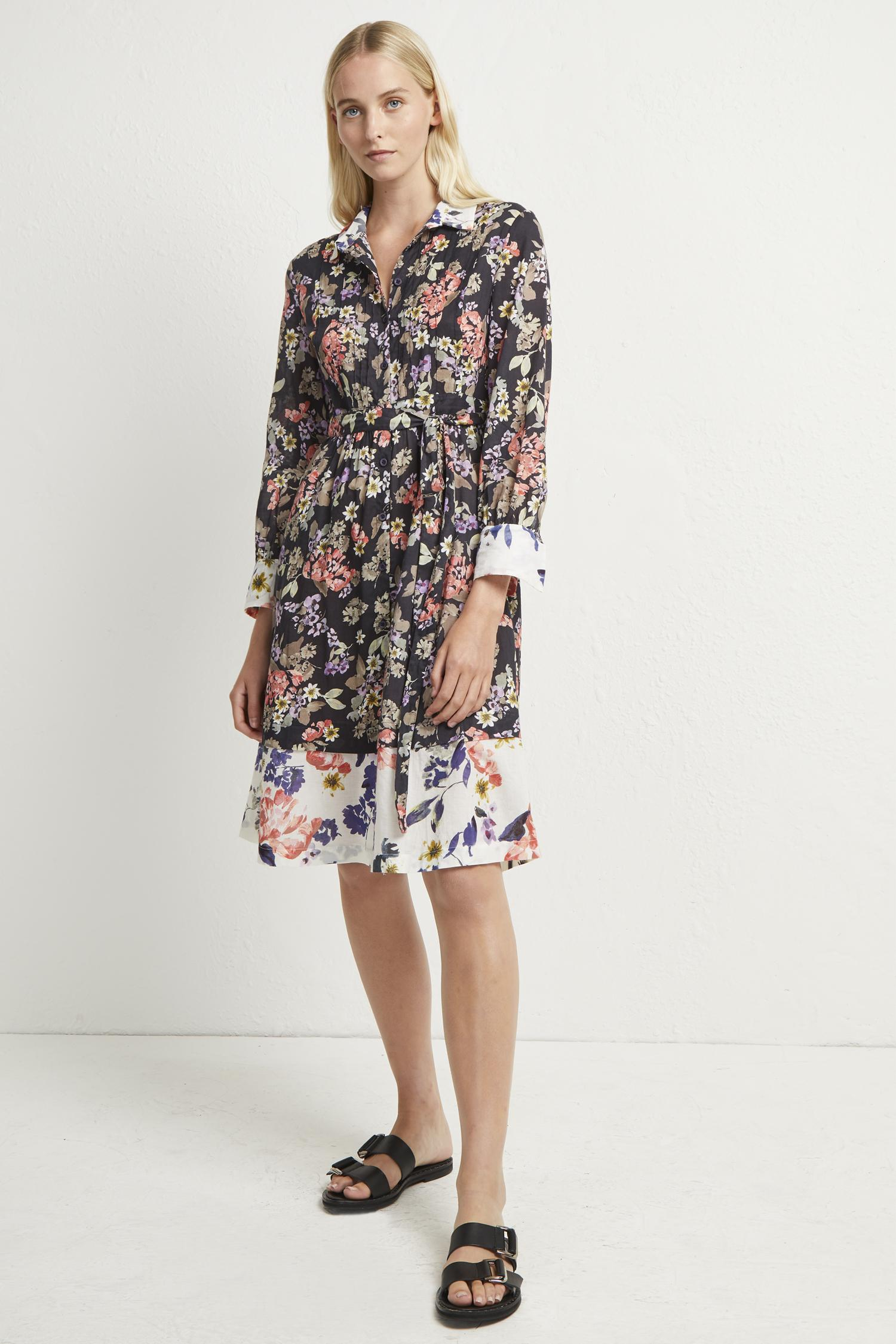 1bb10e4a49a7 French Connection Acaena Voile Floral Shirt Dress in Blue - Lyst