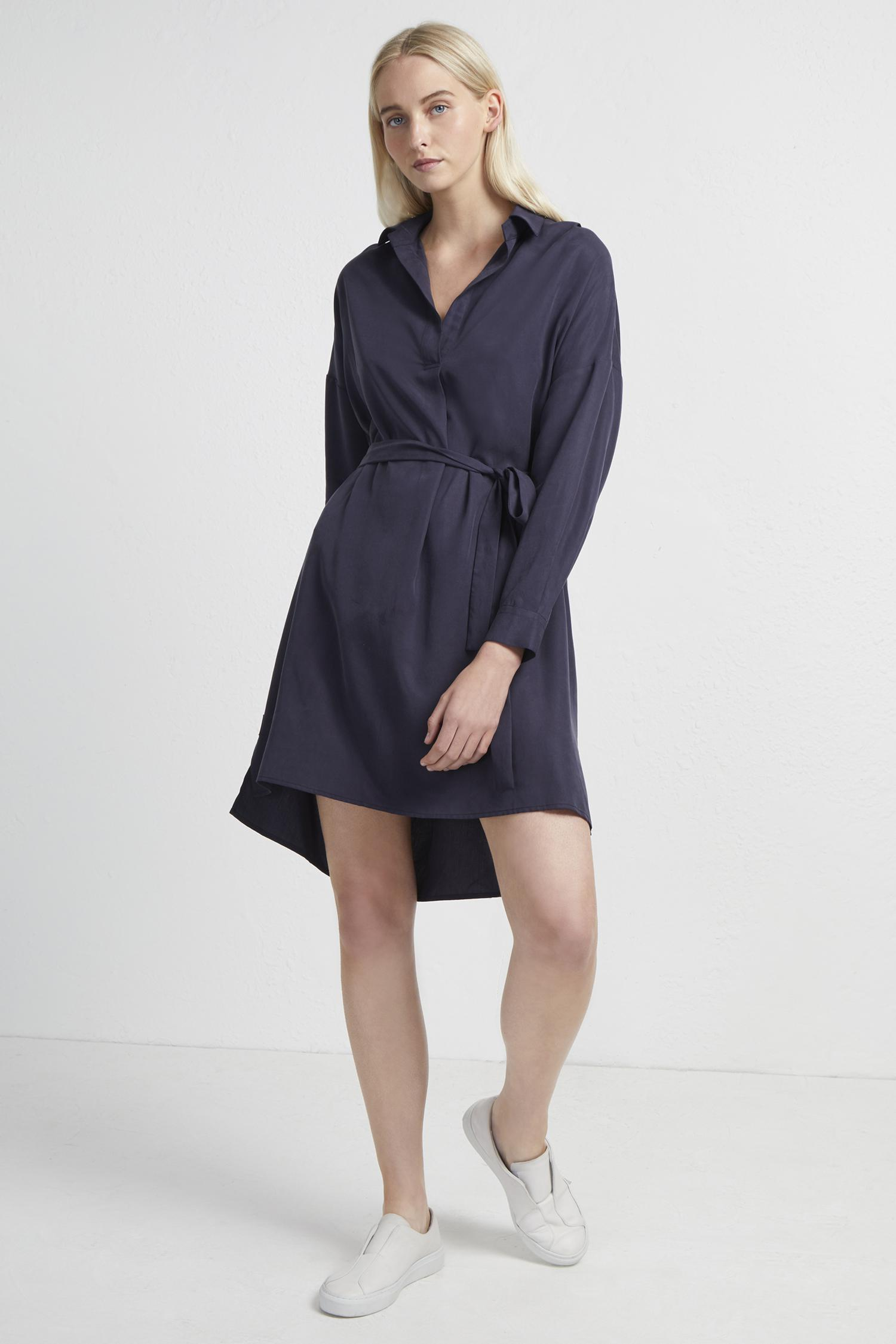 3eecf830ea1 Lyst - French Connection Rhodes Popover Shirt Dress in Blue