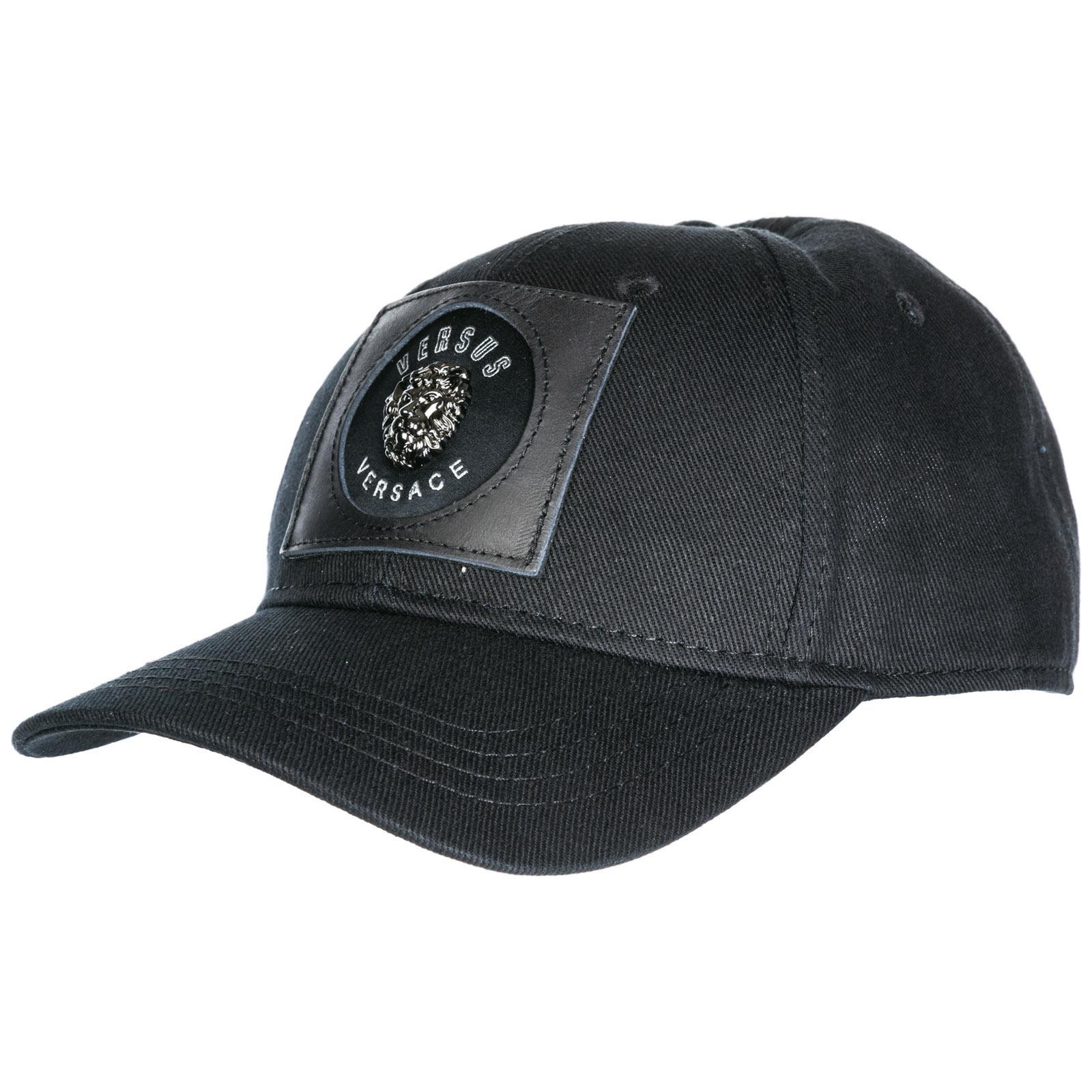 006136a106b Versus - Black Adjustable Cotton Hat Baseball Cap for Men - Lyst. View  fullscreen