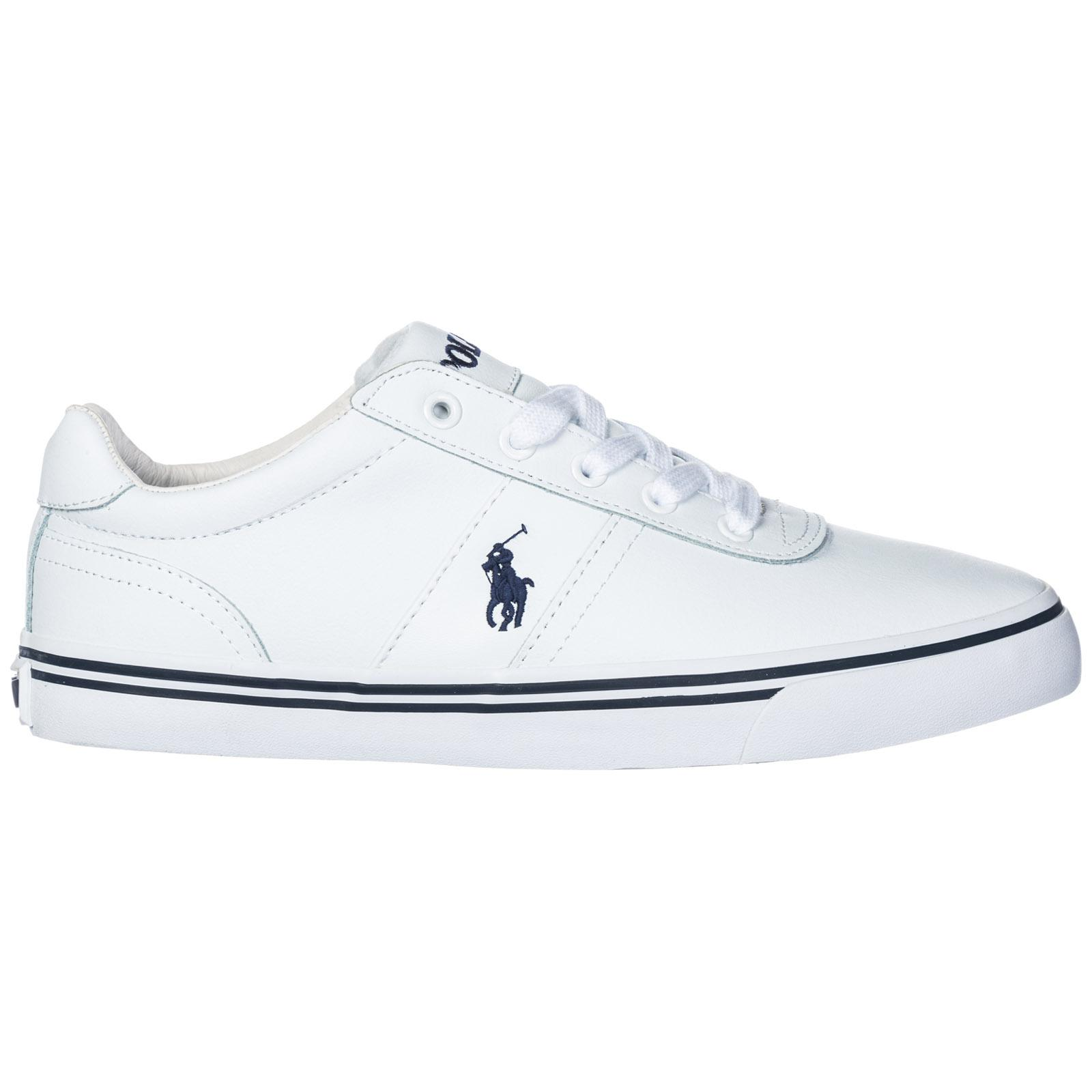 Lauren In Shoes Hanford Polo Ralph White Trainers Leather Sneakers bgf76y