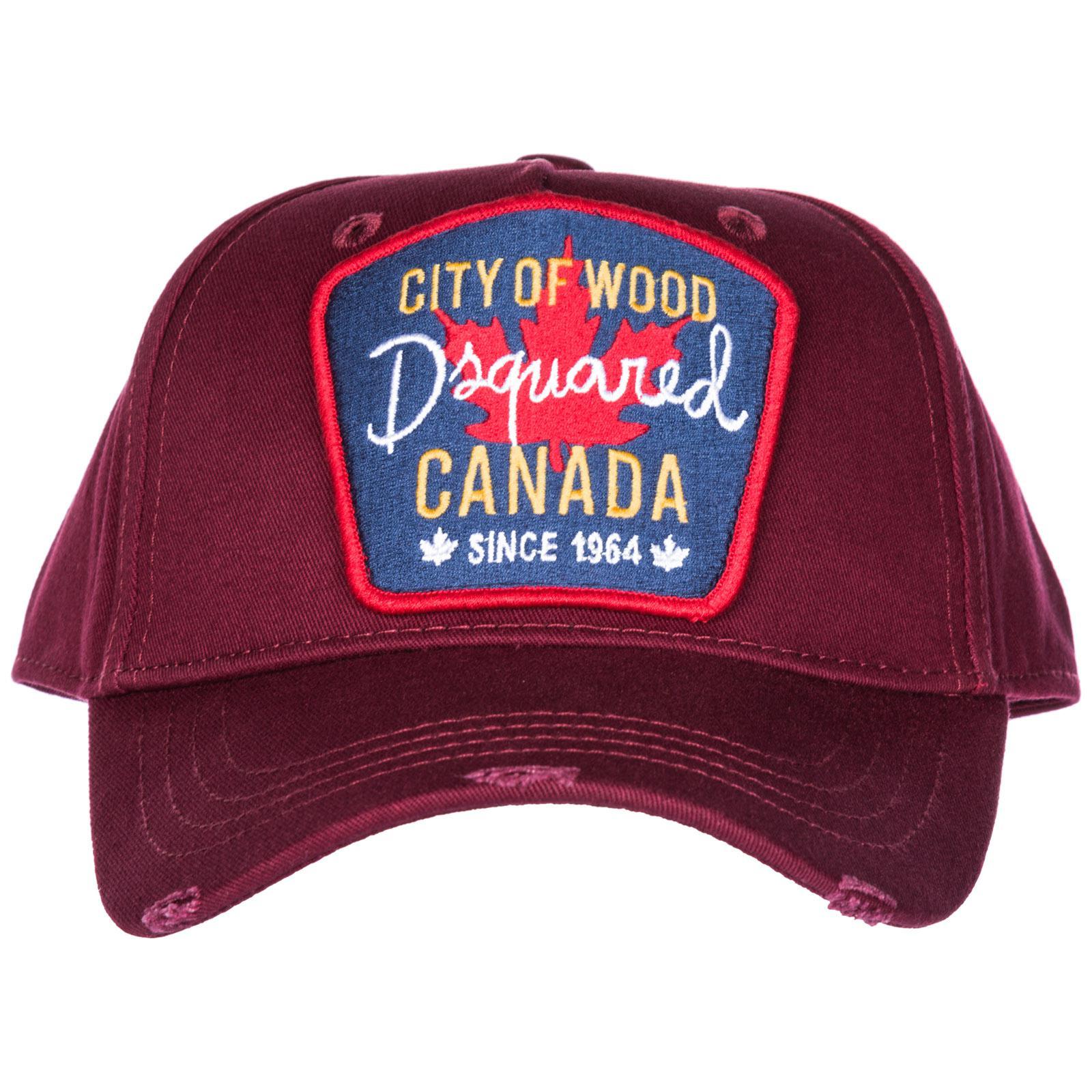 Lyst - Dsquared² Adjustable Cotton Hat Baseball Cap Citi Of Wood in ... 6780b598b81c