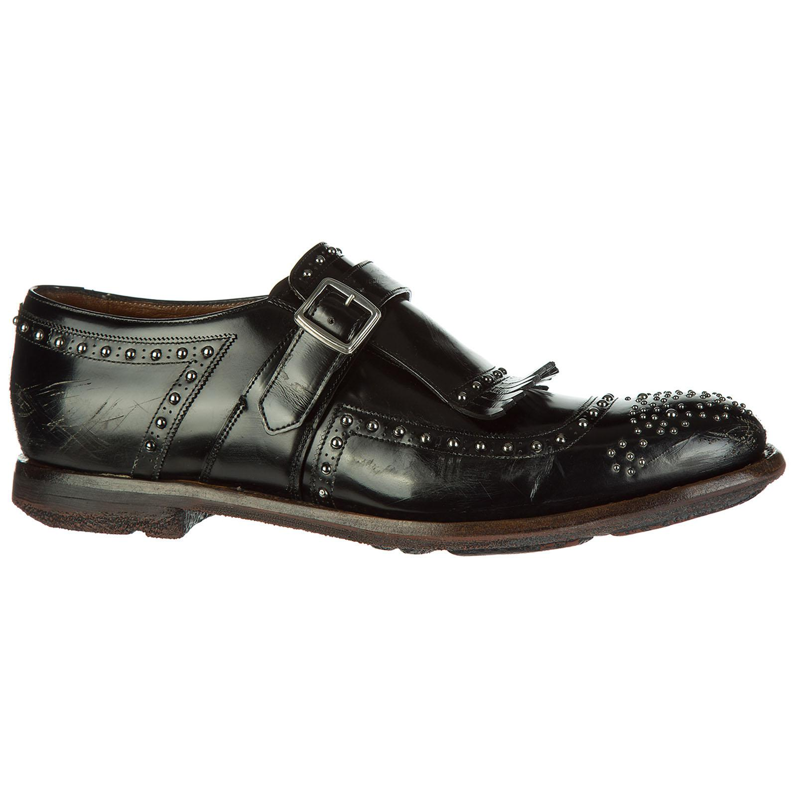 Church s - Black Classic Leather Formal Shoes Slip On Monkstrap Shanghai  for Men - Lyst. View fullscreen 8a0c7aa80e4