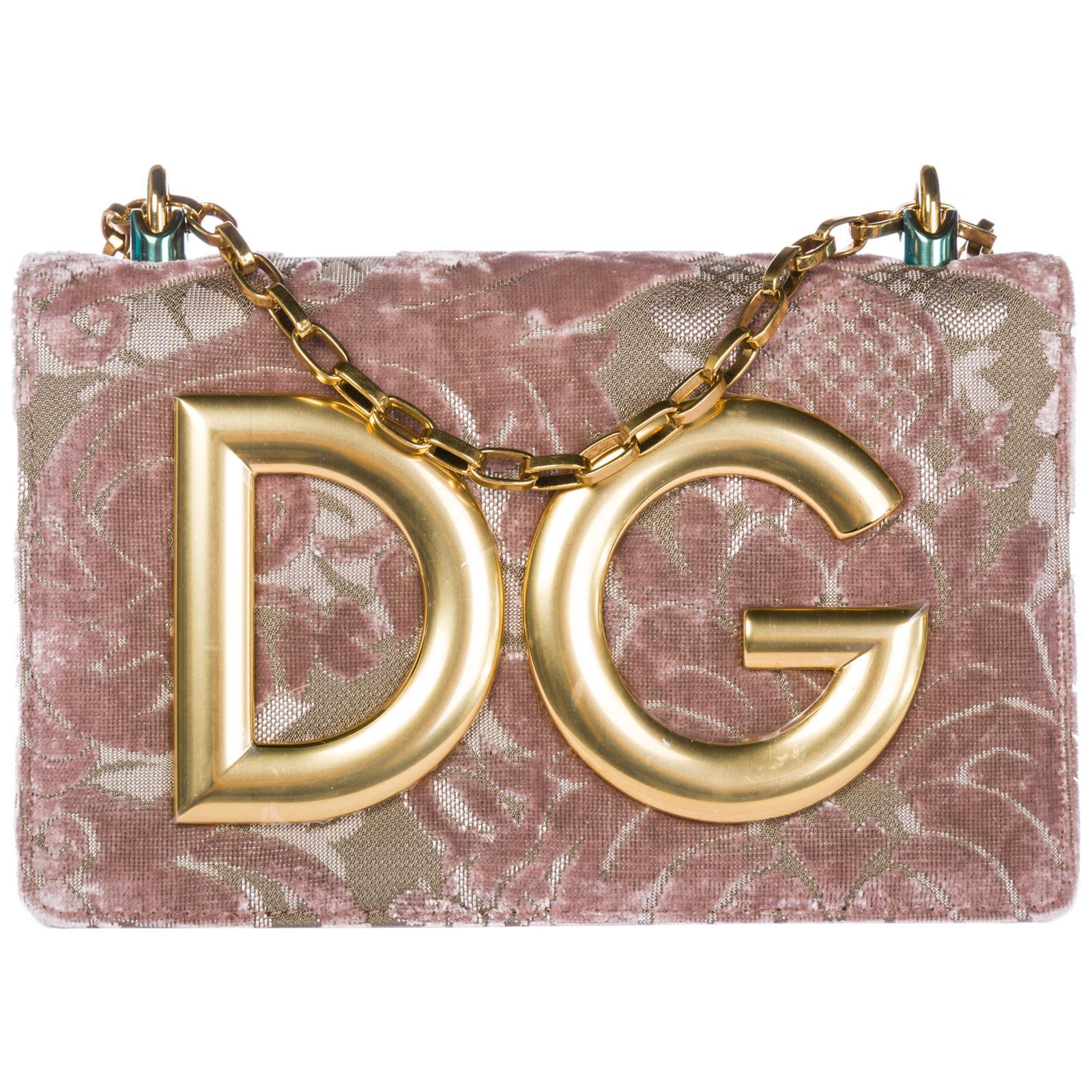 98ca3a8994cf Dolce   Gabbana. Women s Pink Leather Cross-body Messenger Shoulder Bag Dg  Girls