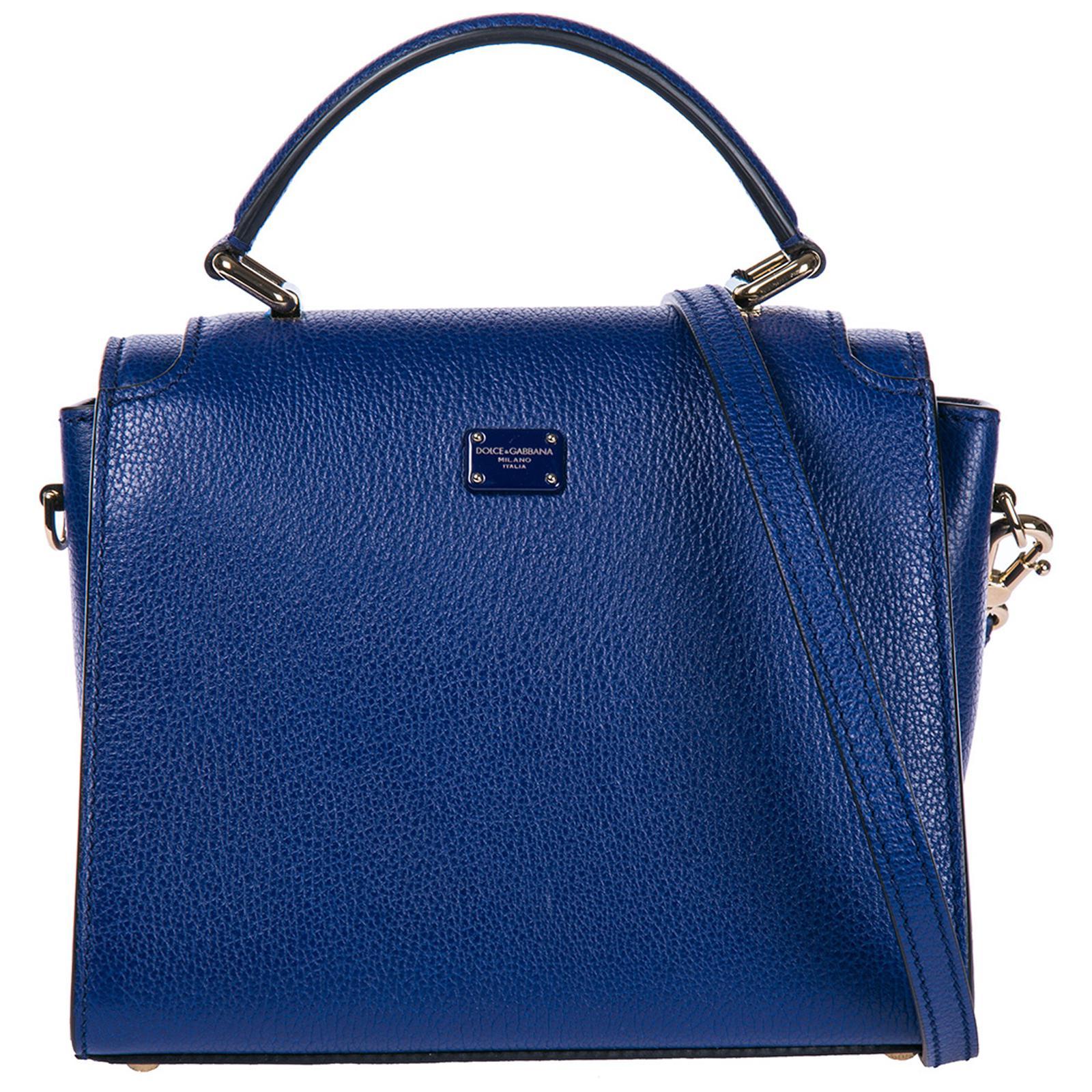 2c61ca0dca Dolce   Gabbana - Blue Leather Handbag Shopping Bag Purse Greta - Lyst.  View fullscreen