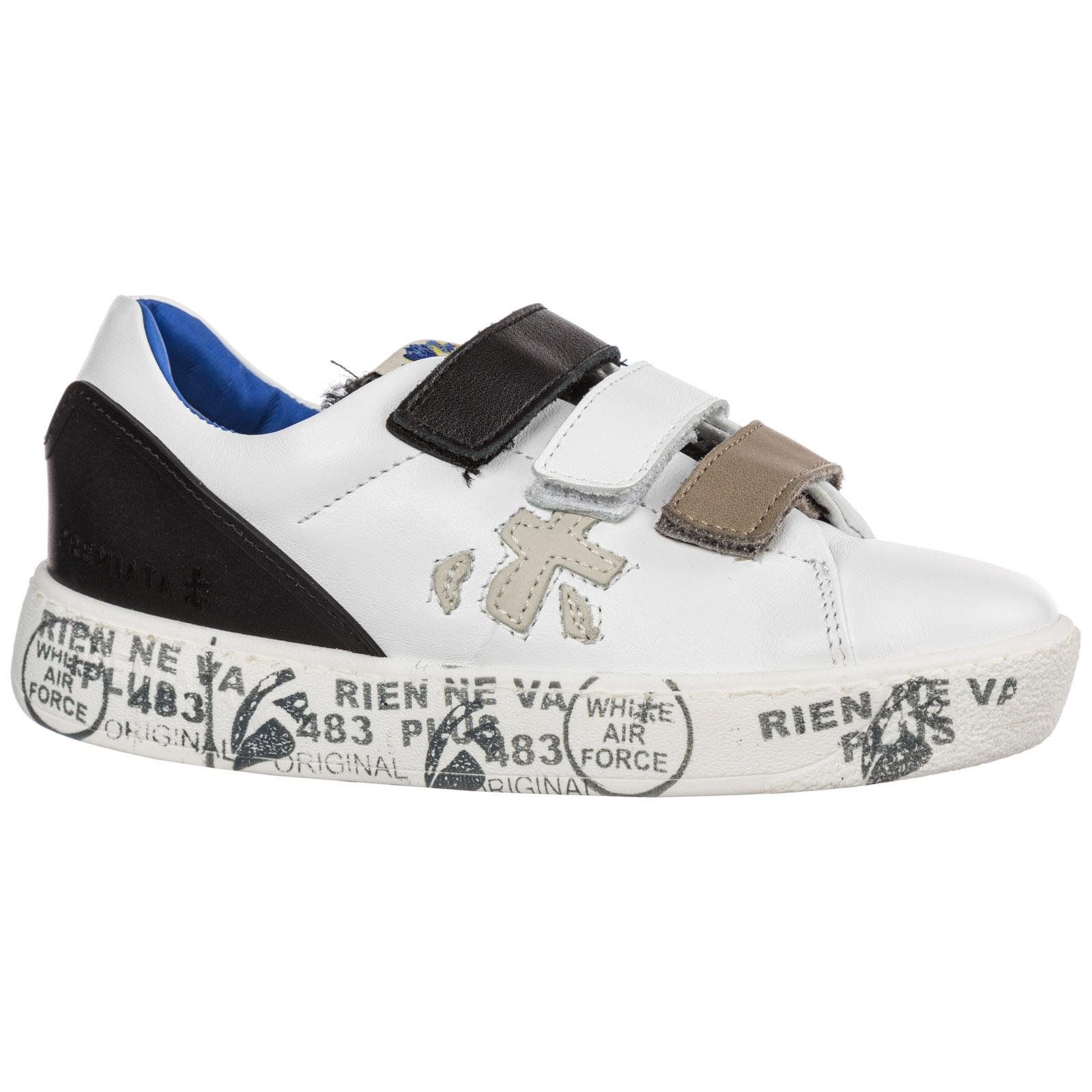 Premiata Boys Shoes Child Sneakers Suede Leather Steve V for