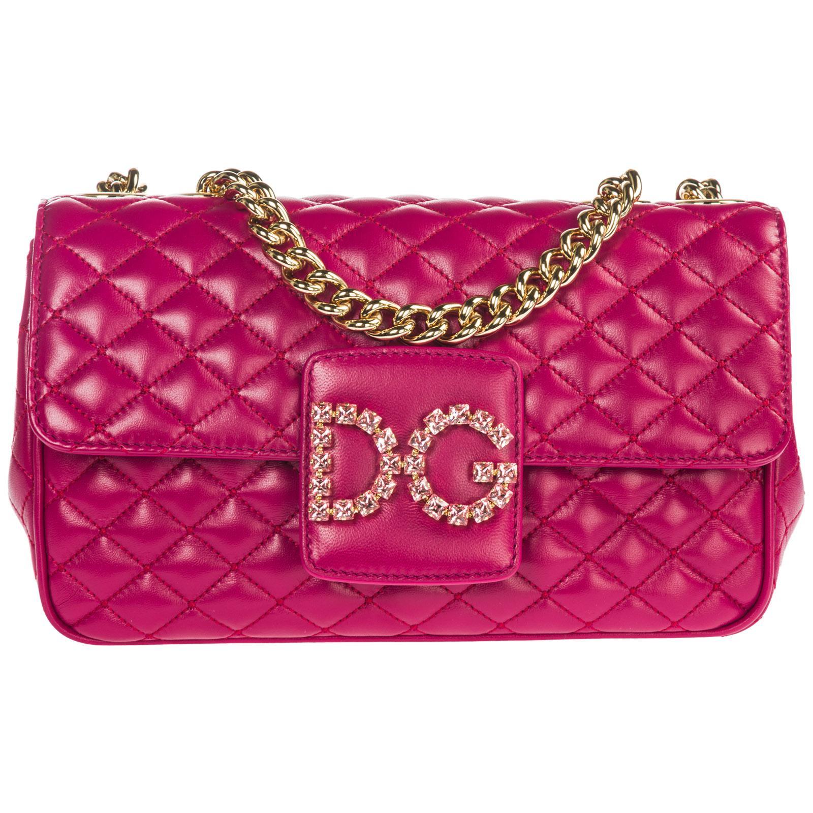 Dolce   Gabbana Leather Shoulder Bag Dg Millennials in Pink - Lyst ff023cea23