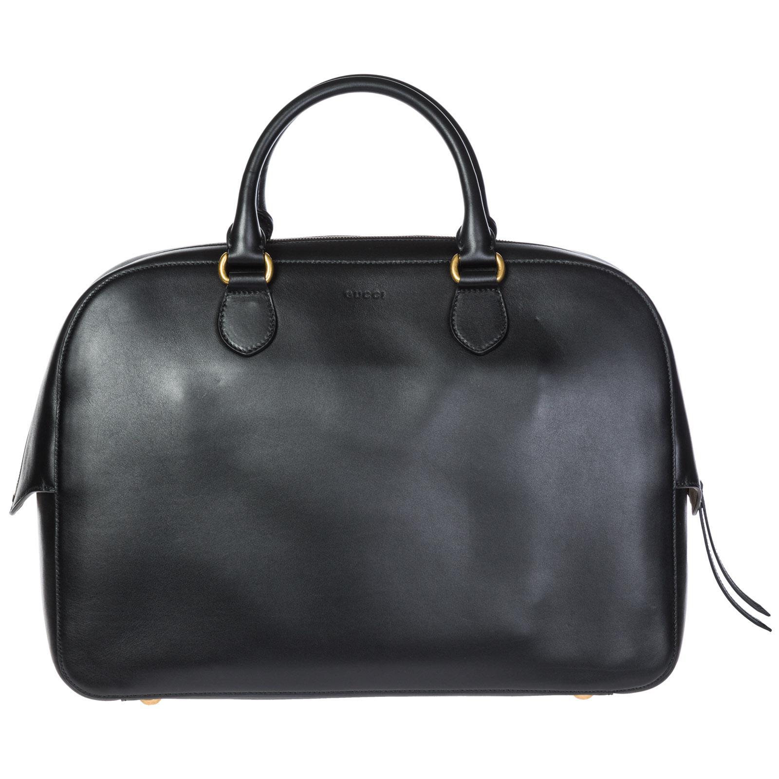 02d9d1ebe93c6 Gucci Borsa Uomo A Mano In Pelle Bestiary in Black for Men - Lyst