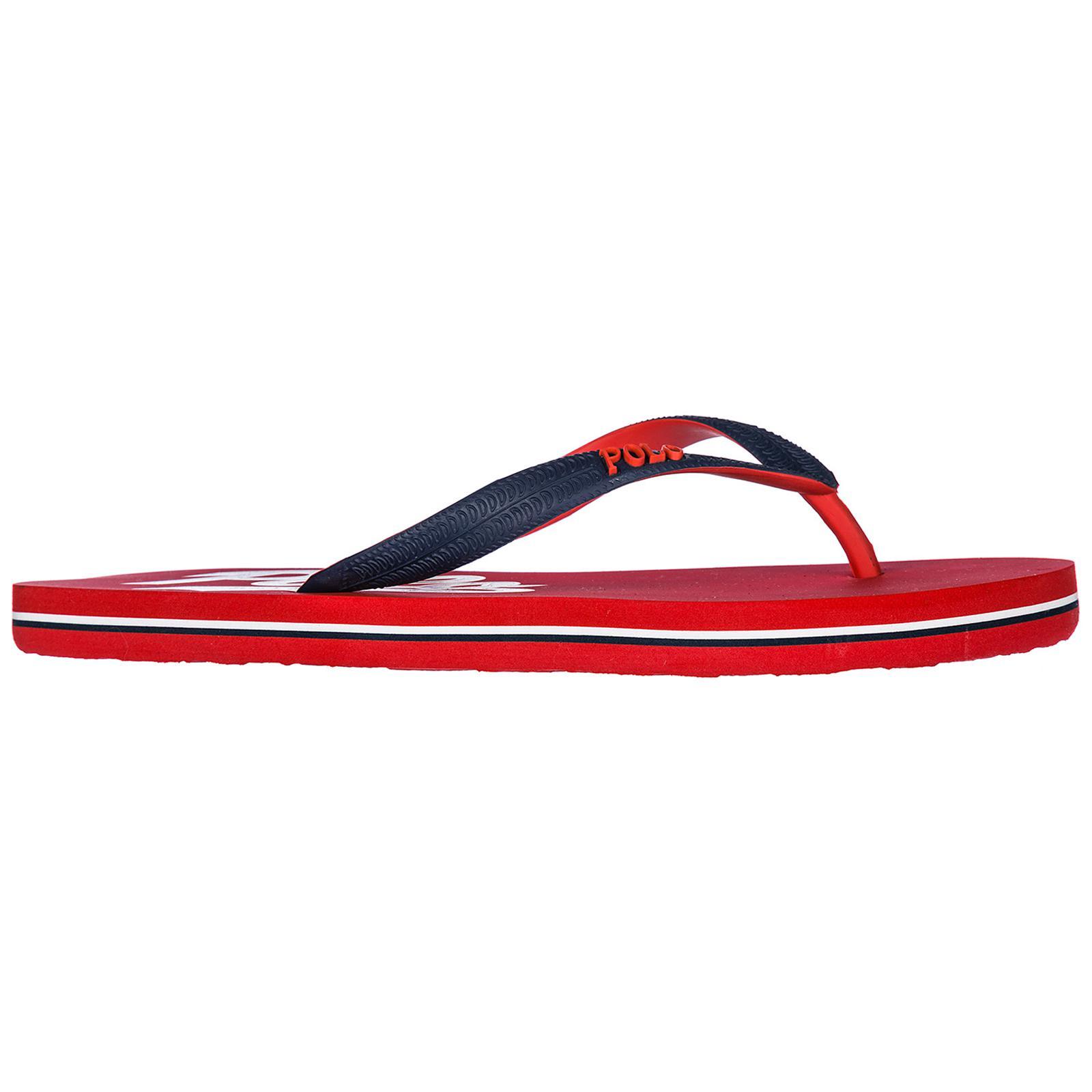 a0909f78e50a Polo Ralph Lauren Rubber Flip Flops Sandals in Red for Men - Lyst