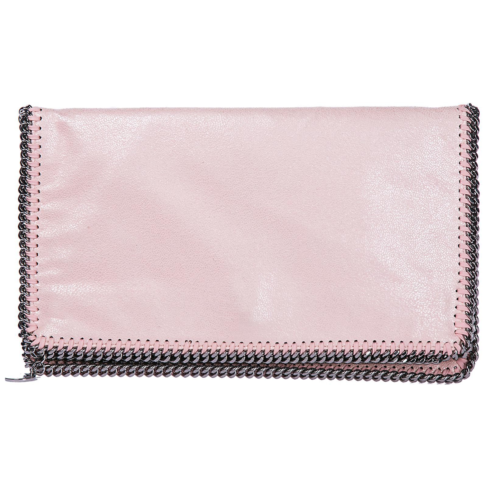Stella McCartney. Women s Pink Clutch Handbag Bag Purse Falabella Fold Over shaggy  Deer 1a81c8337ce2a