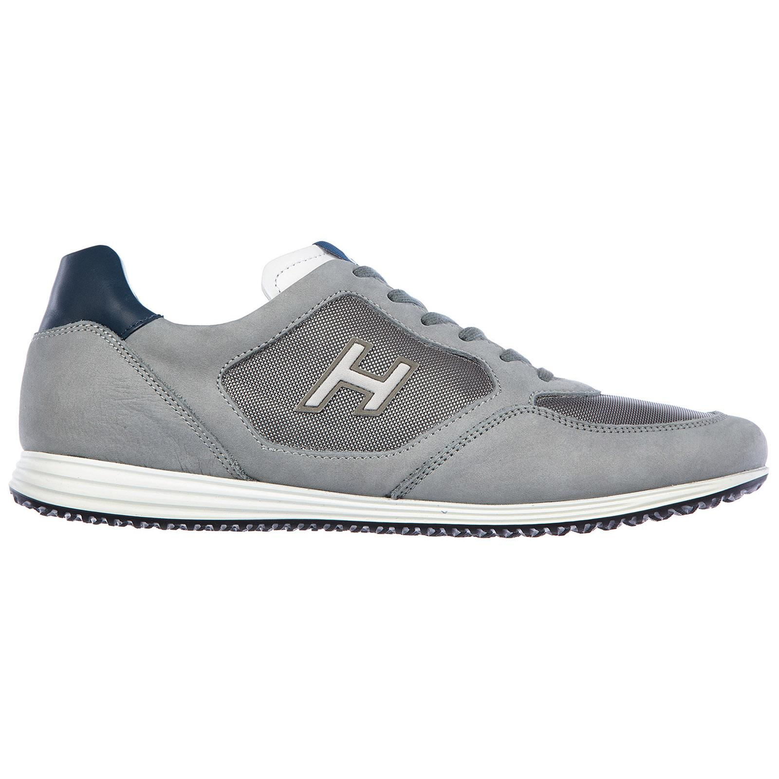41e162885d9 Lyst - Hogan Shoes Leather Trainers Sneakers H205 Olympia in Gray ...
