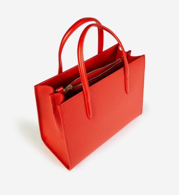 magasin en ligne 56231 065a2 Sac cabas cuir chantaco Lacoste en coloris Orange - Lyst