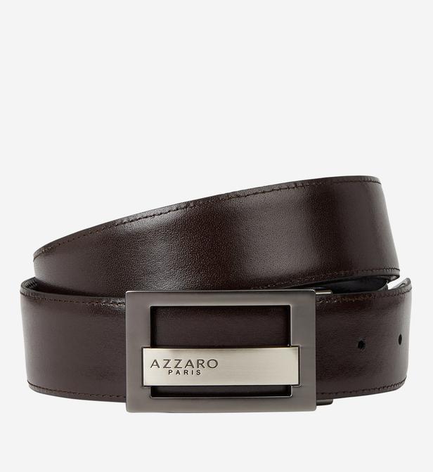 b8bd94e89862 Lyst - Coffret ceinture cuir réversible doubles boucles Azzaro pour ...