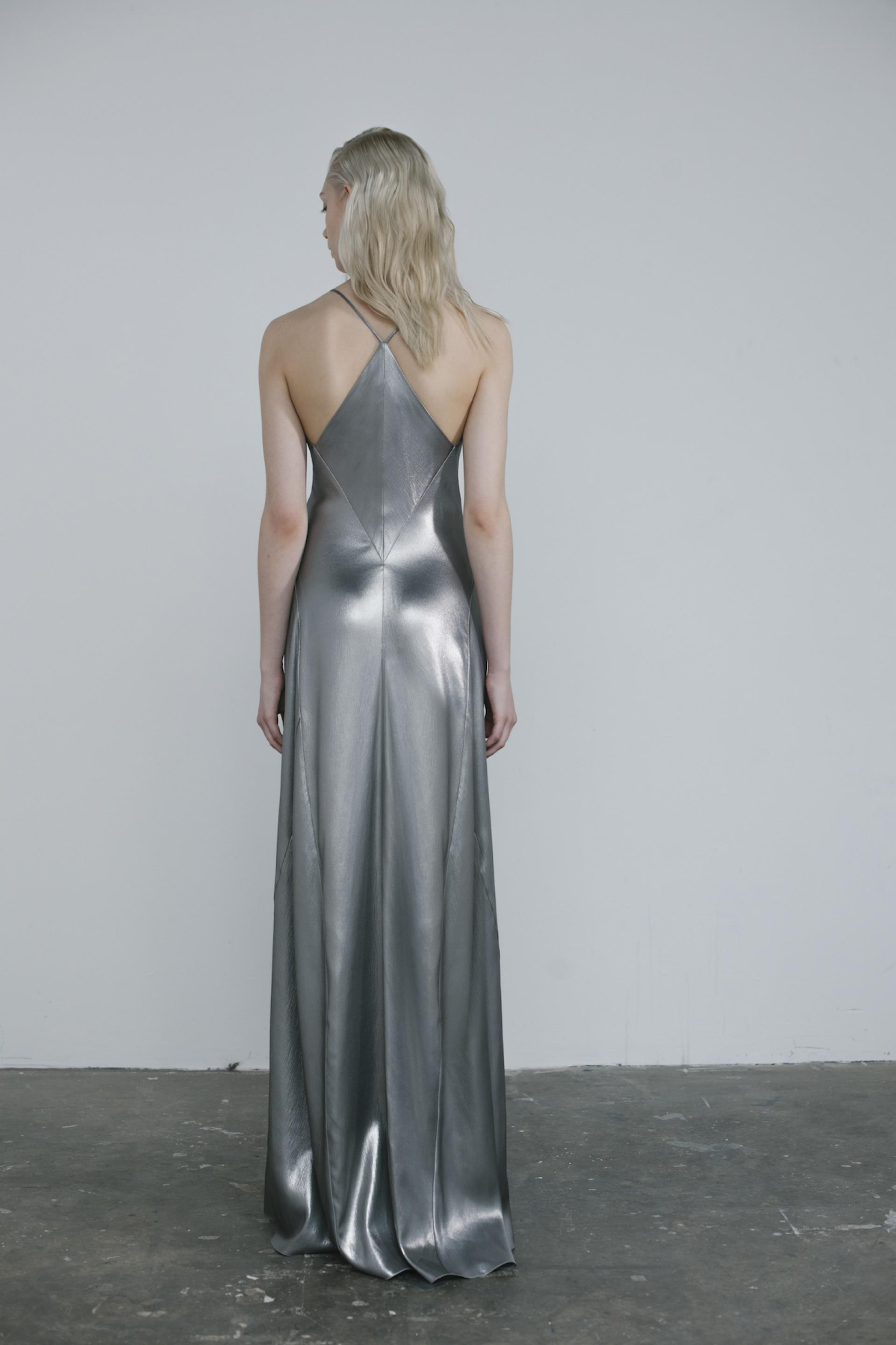 Lyst Galvan London Liquid Silver Dress