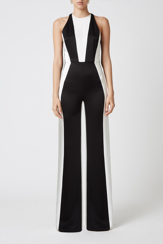 59e88c9274d Lyst - GALVAN London Marlene Jumpsuit in Black