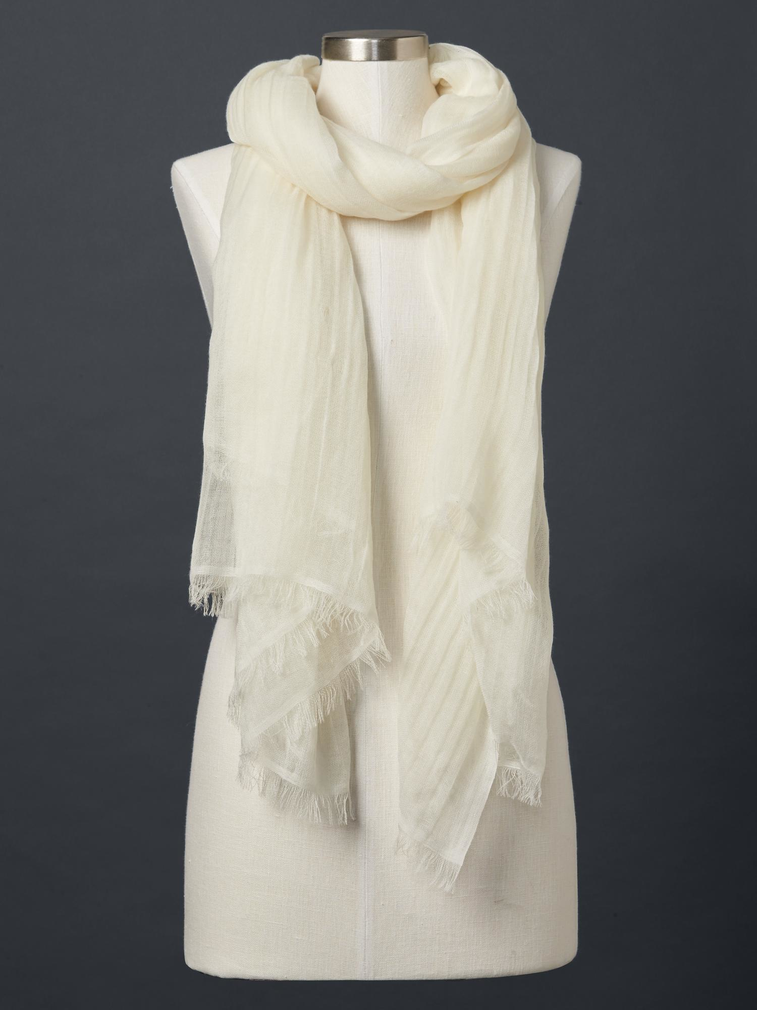 gap wool solid scarf in white white lyst
