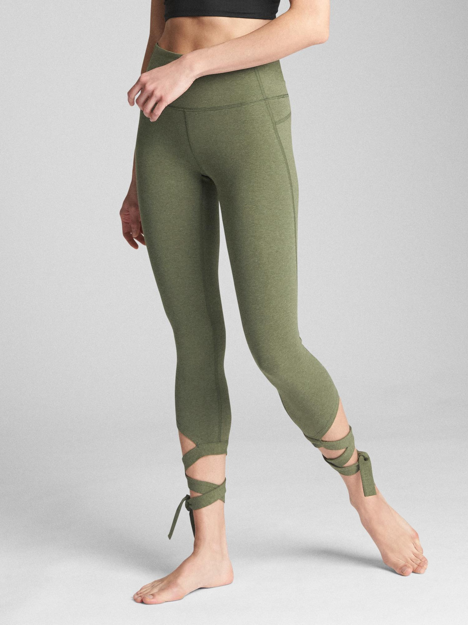 02b576f122 Gap Fit Gfast High Rise 7/8 Leggings In Performance Cotton in Green ...