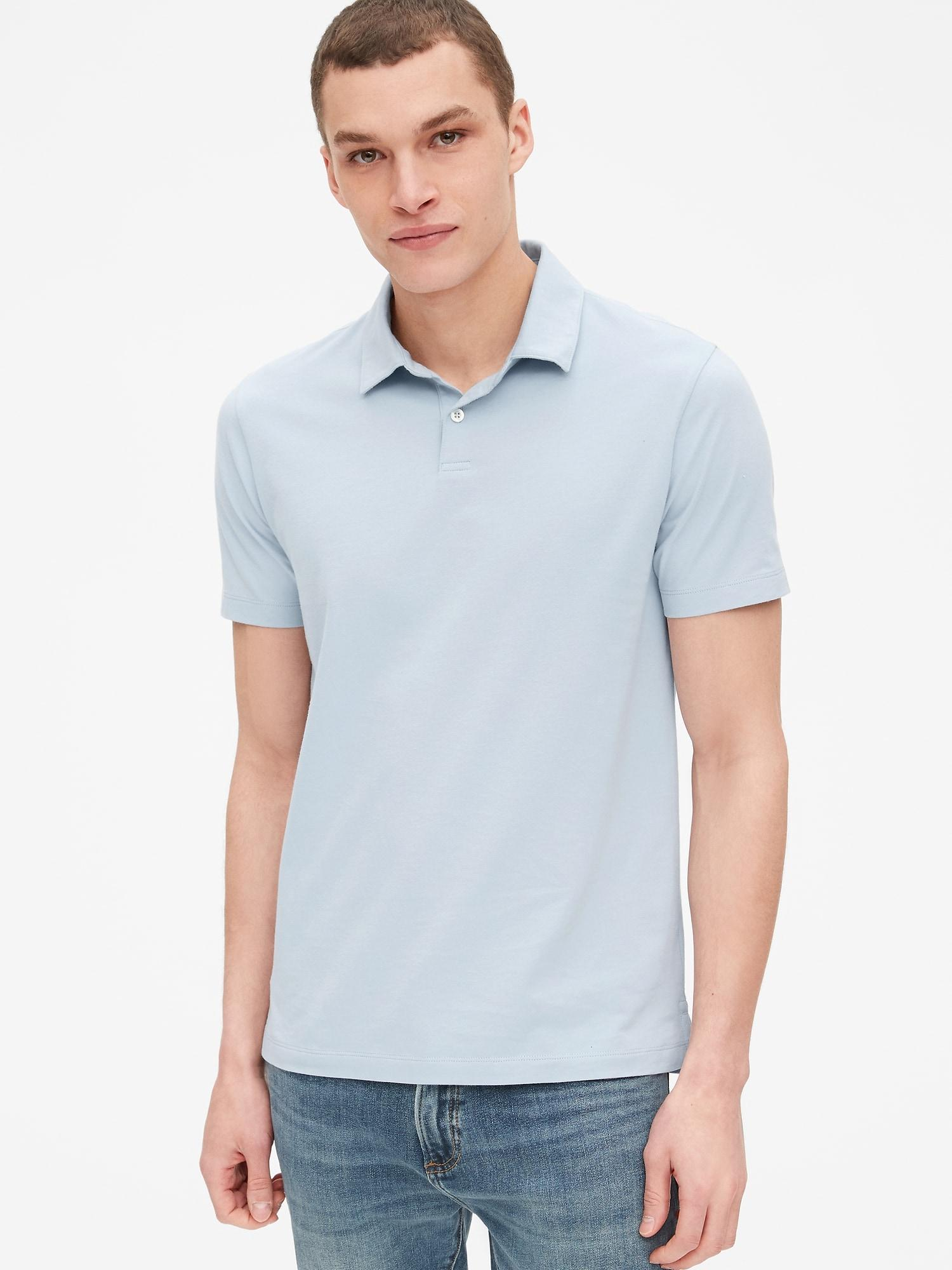 a8c4b5031 Gap Vintage Soft Polo Shirt in Blue for Men - Lyst