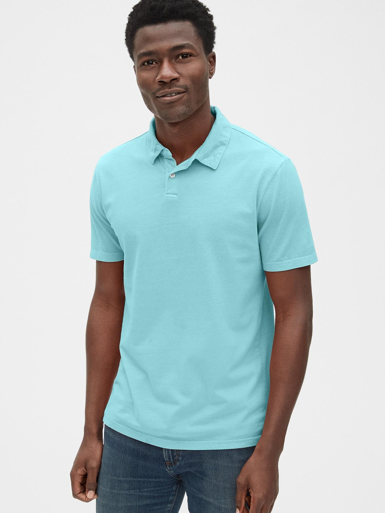 3e1869cd1 Lyst - Gap Vintage Soft Polo Shirt in Blue for Men