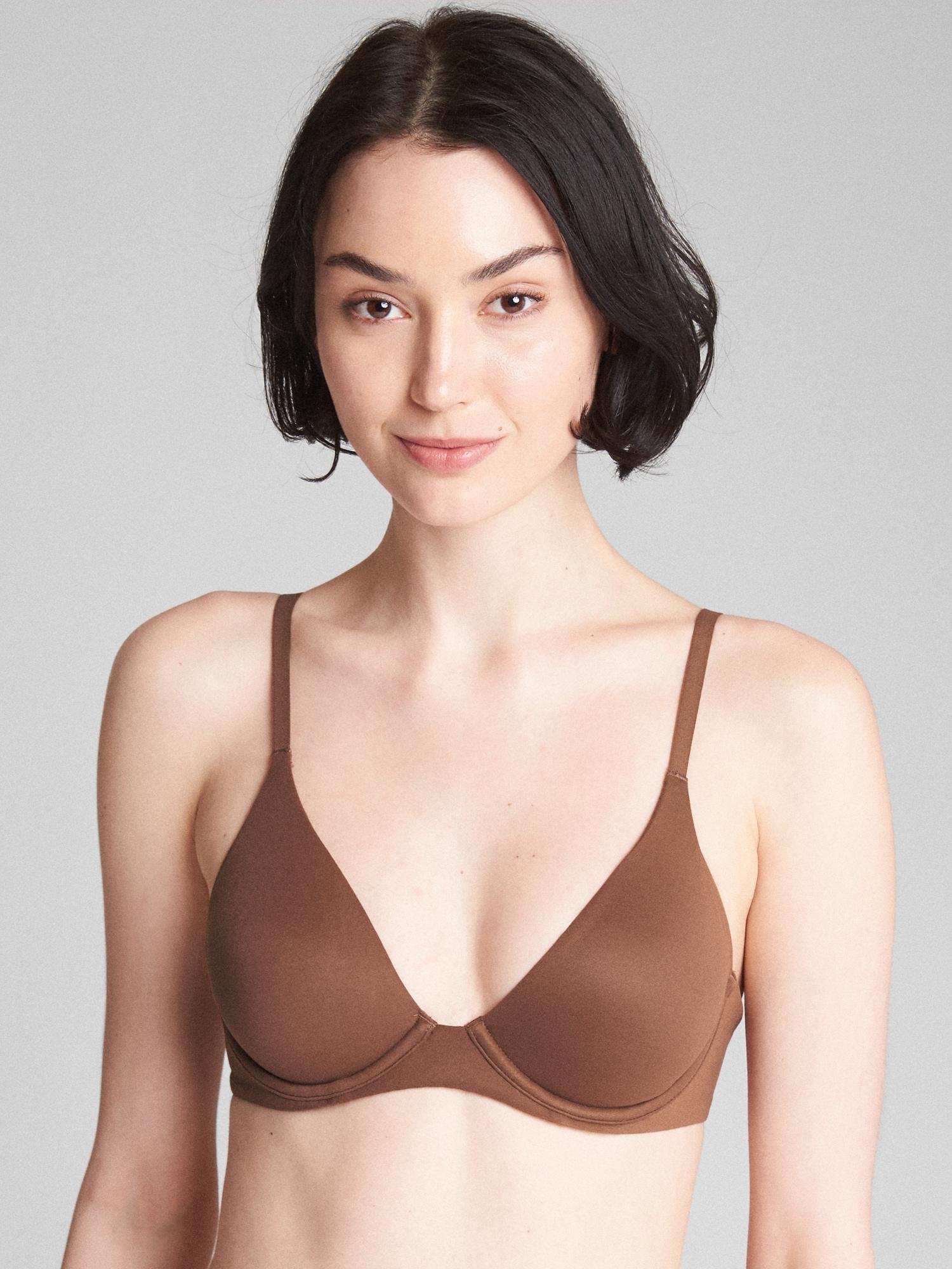 1c0e0311bbe51 Lyst - Gap Bare Natural Plunge Bra in Natural
