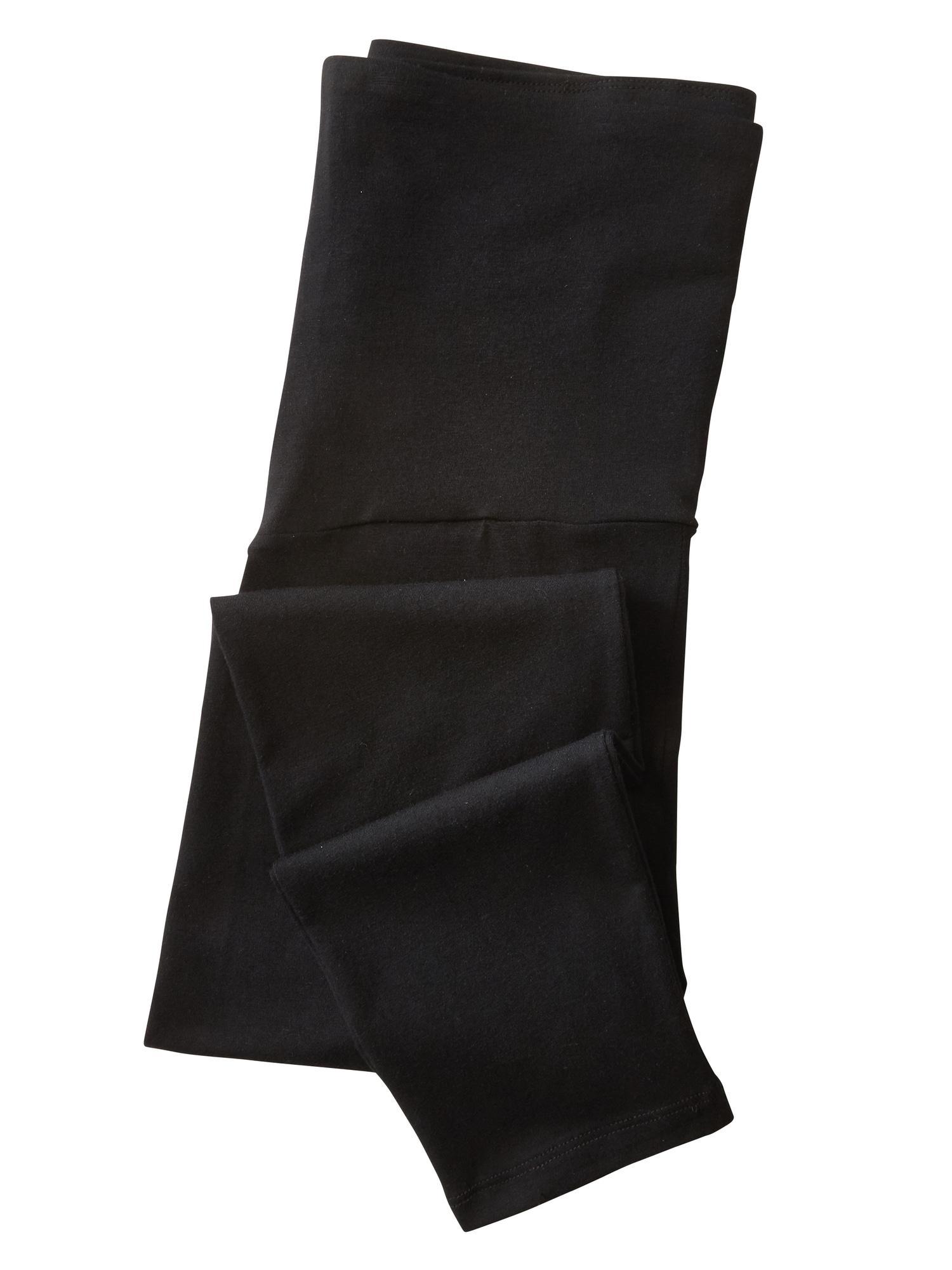 ad4e4a949a4c6 GAP Factory - Black Maternity Pure Body Full Panel Capri leggings - Lyst.  View fullscreen