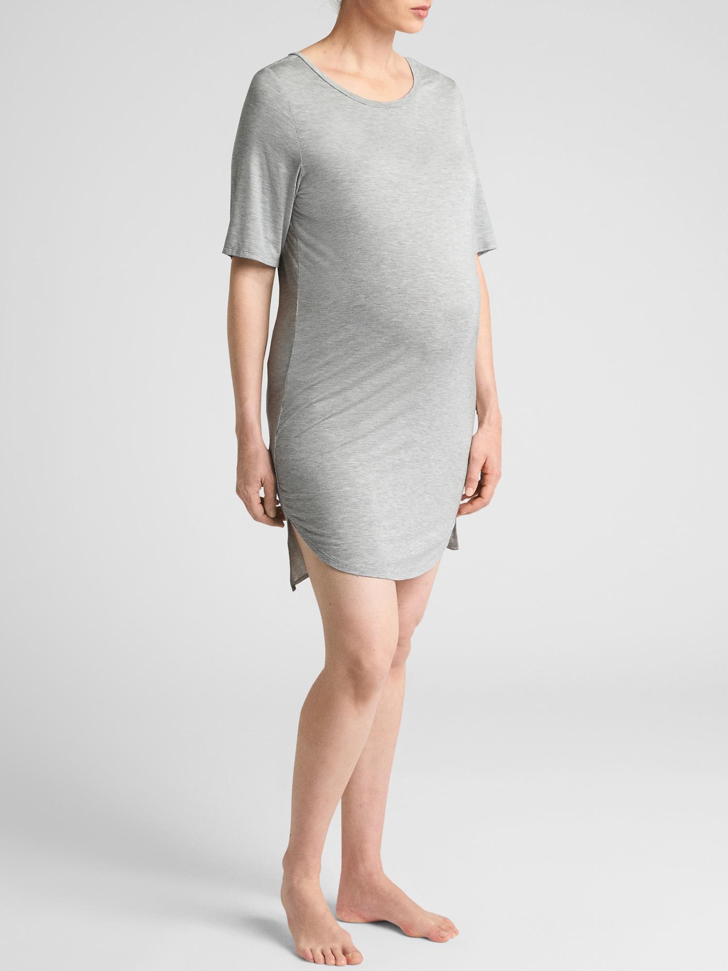 51e796cb6d1f5 Lyst - Gap Factory Maternity Modal Sleep Nightgown in Gray