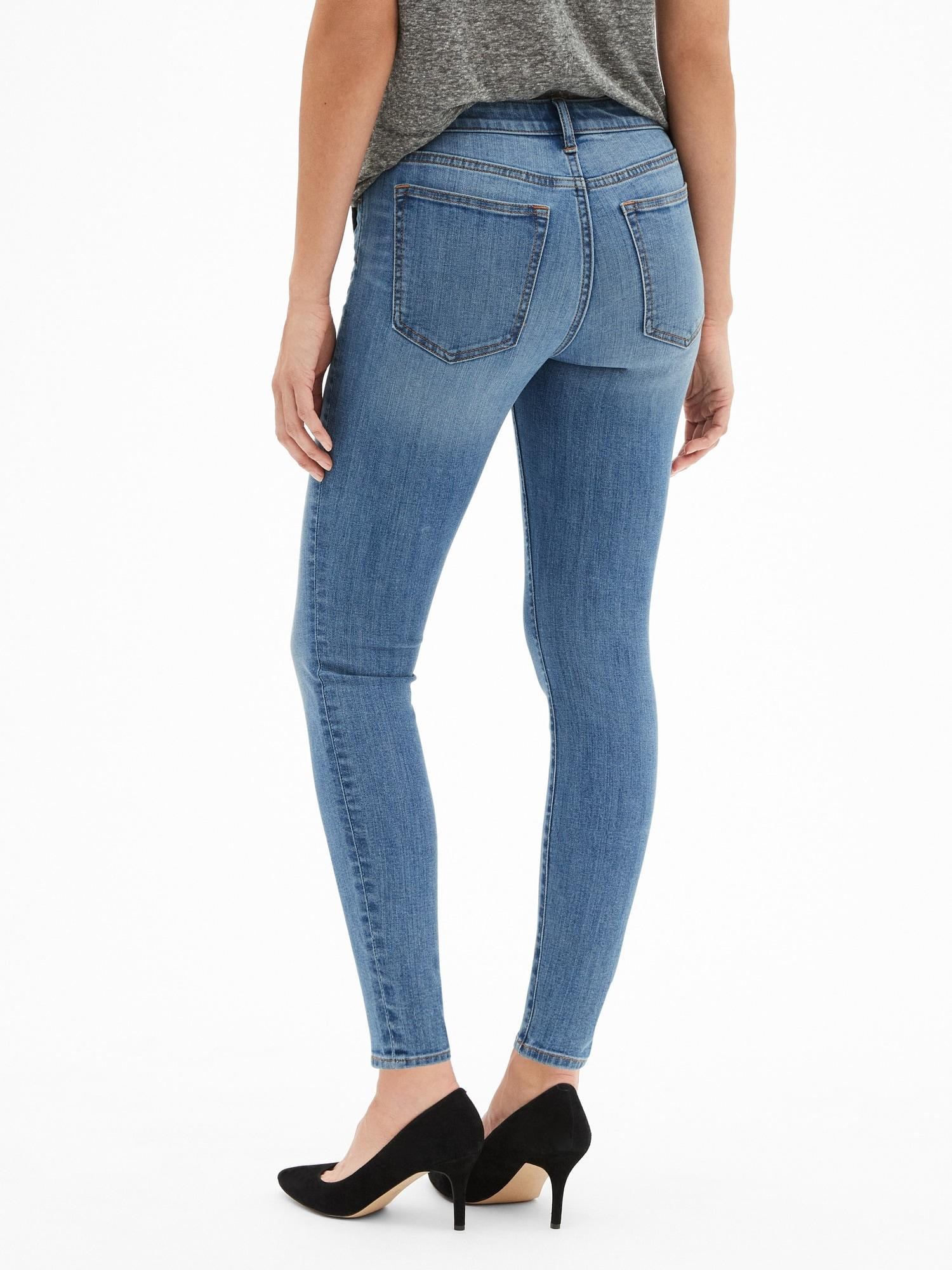 9d2a77712b292 Lyst - GAP Factory Mid Rise Legging Skimmer Jeans in Blue