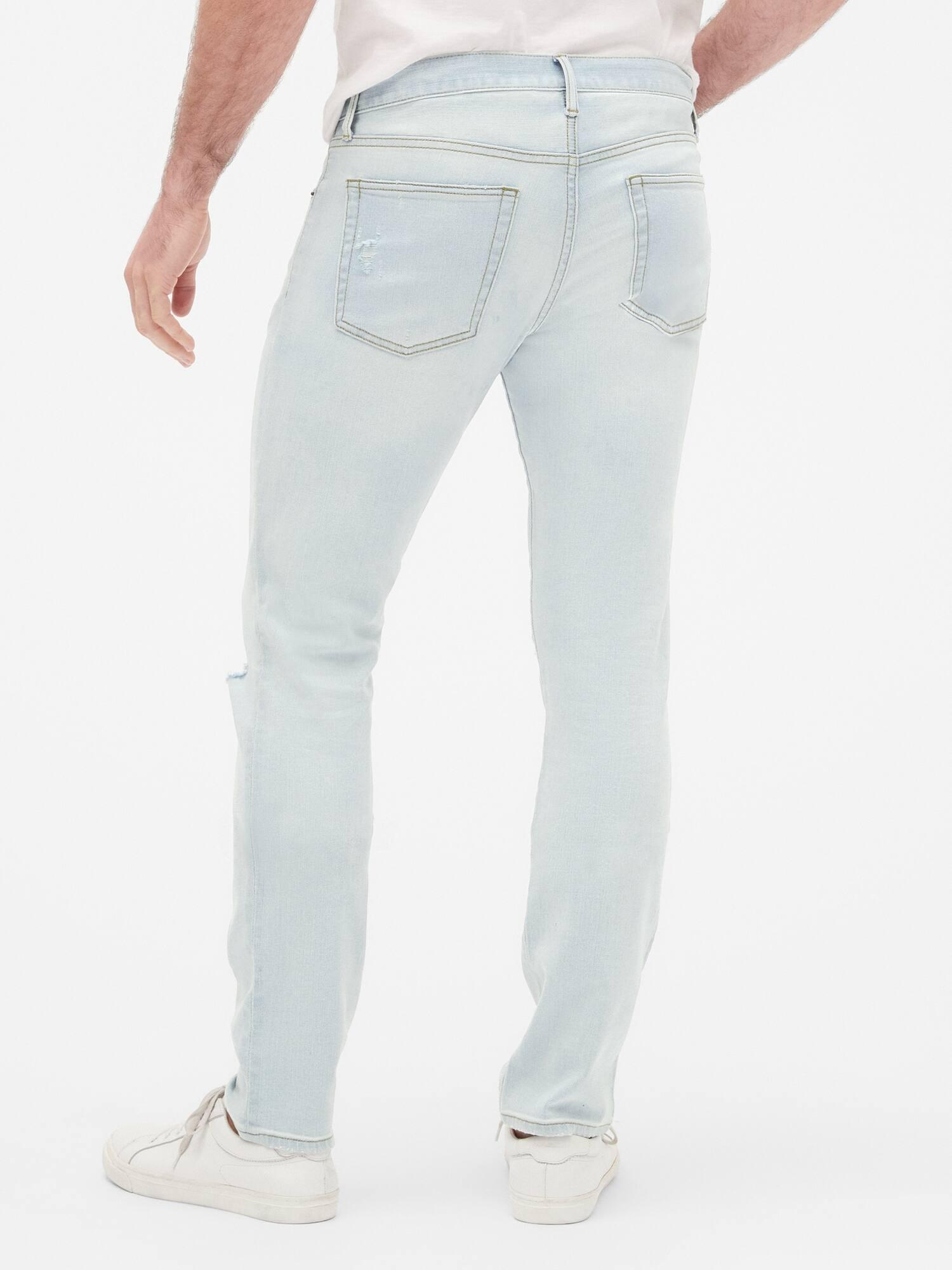 bec41bea ... Distressed Skinny Jeans With Gapflex for Men - Lyst. View fullscreen
