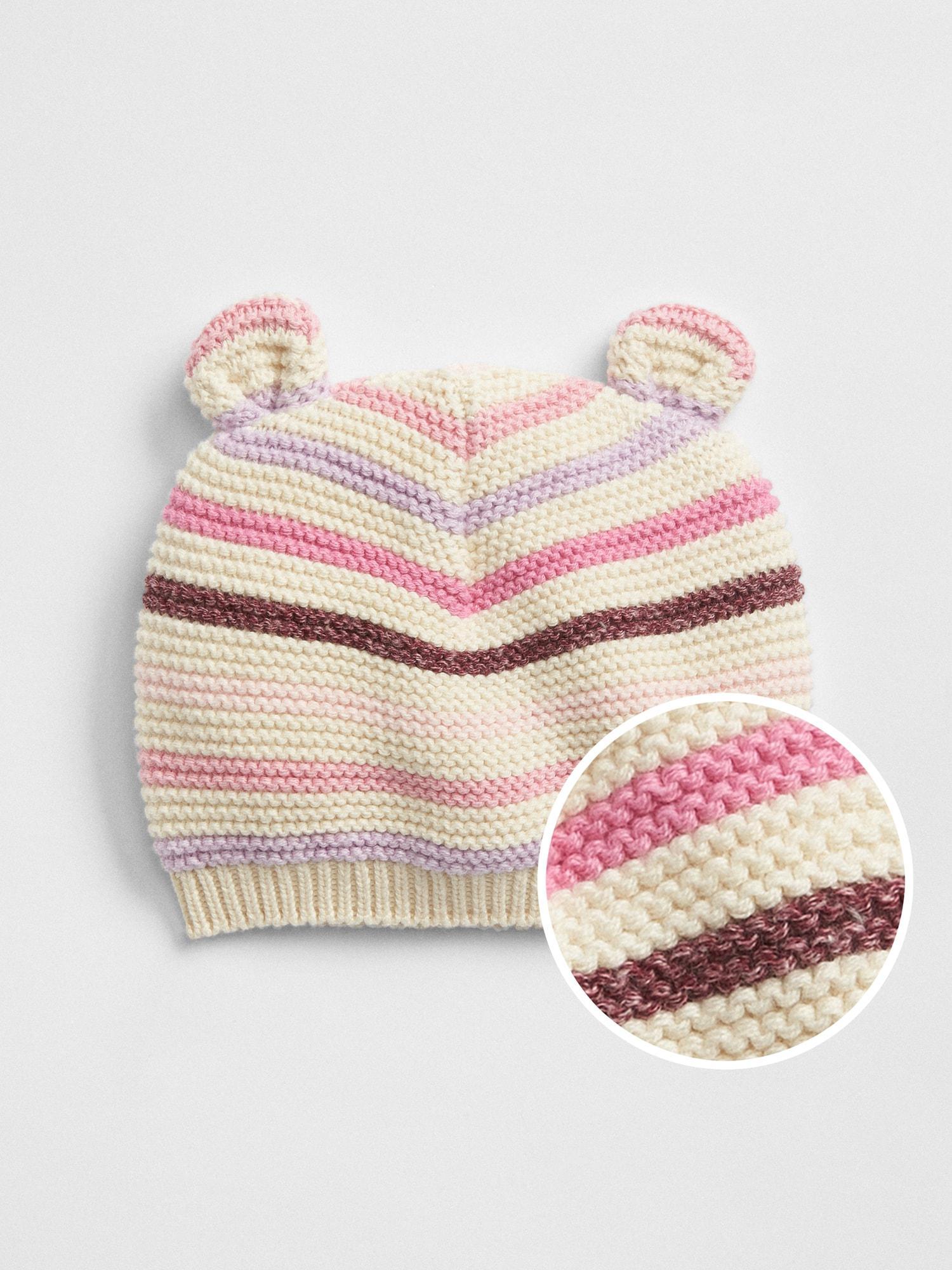 Lyst - Gap Factory Bear Garter Beanie in Pink 71095484a72c