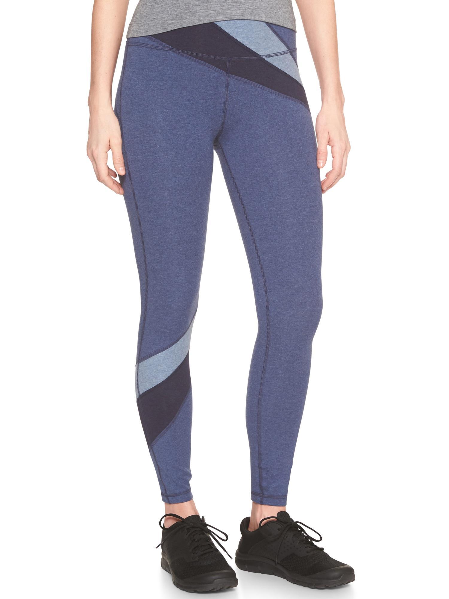 b75b2a0aad GAP Factory Gapfit Gfast Spliced Yoga Leggings in Blue - Lyst