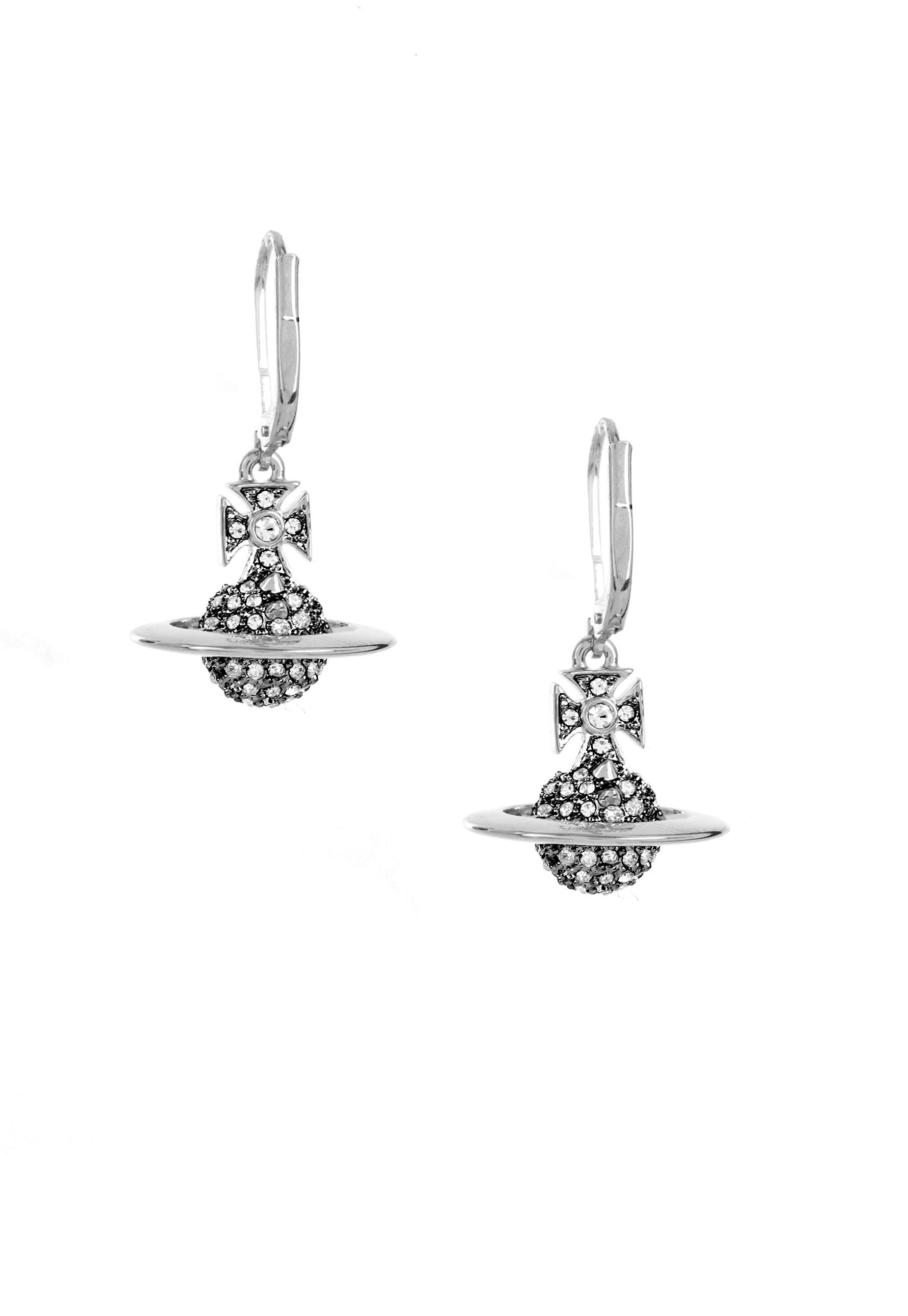 ea3754cef Lyst - Vivienne Westwood Lena Orb Earrings Rhodium