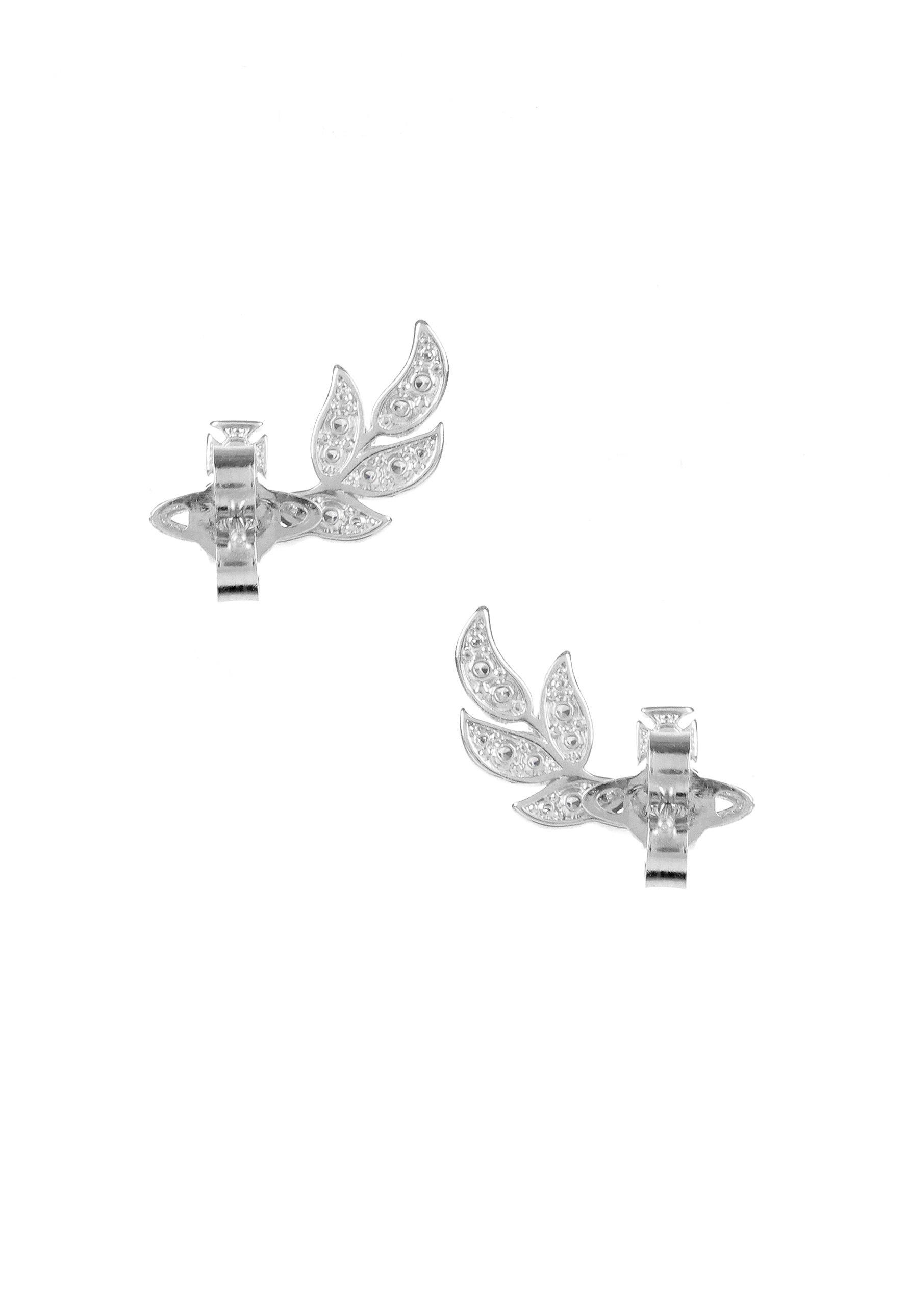 04afc0407209e Vivienne Westwood Amma Stud Earrings Rhodium in Metallic - Lyst