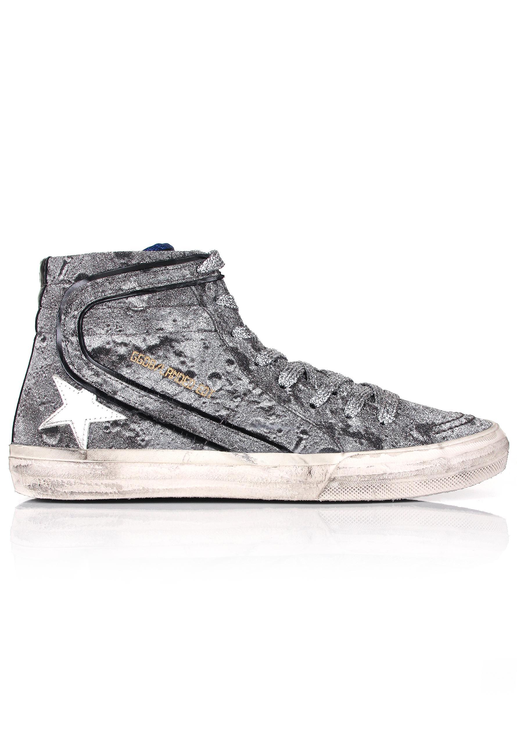 Cedro glitter-panelled sneakers - Metallic Golden Goose M5VoVyJYC
